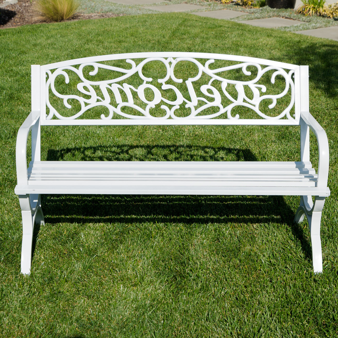 2019 Ishan Steel Park Benches Within Outdoor Benches You'll Love In (View 11 of 30)