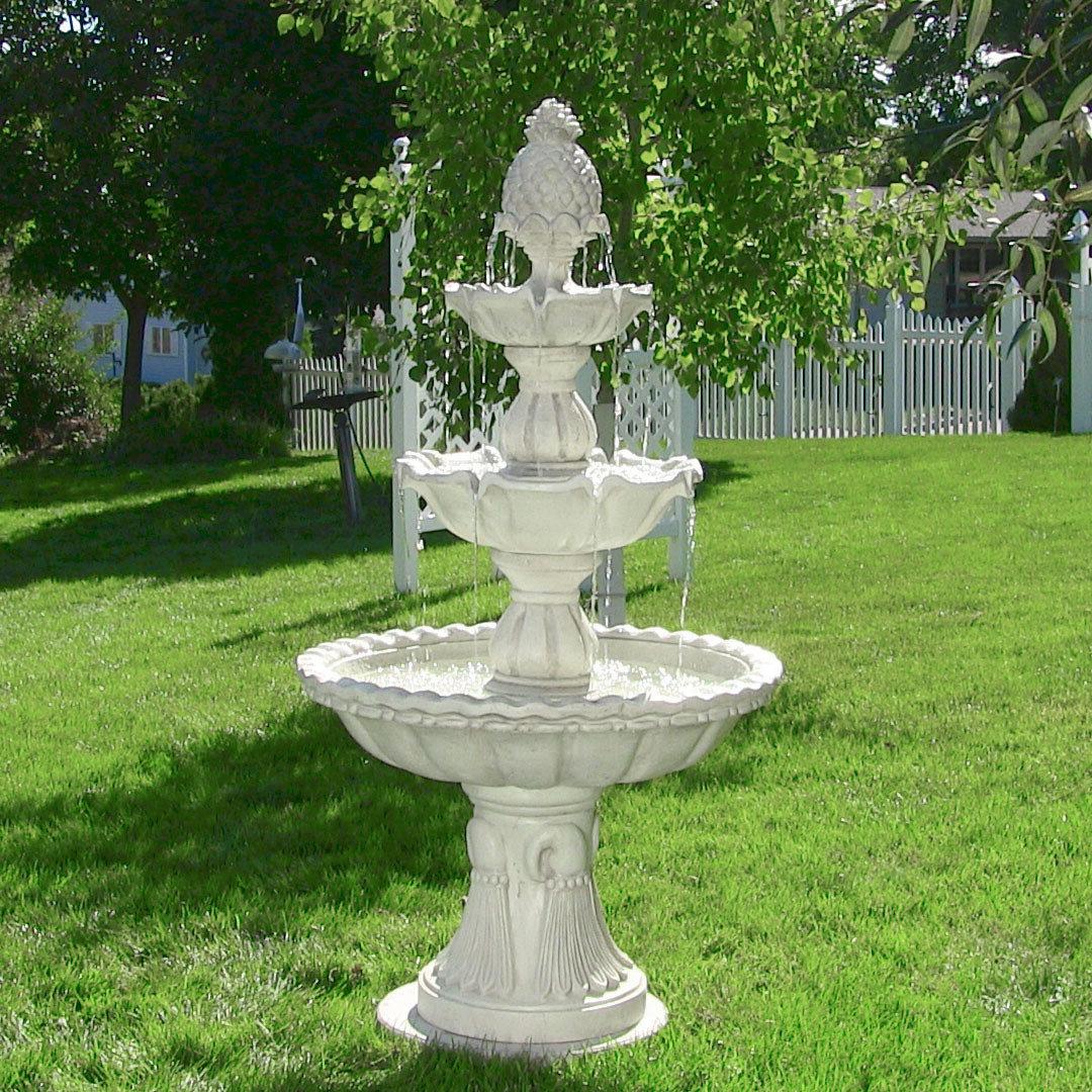 2019 Kujawa Fiberglass Welcome 3 Tier Garden Fountain Throughout Kujawa Ceramic Garden Stools (View 9 of 30)