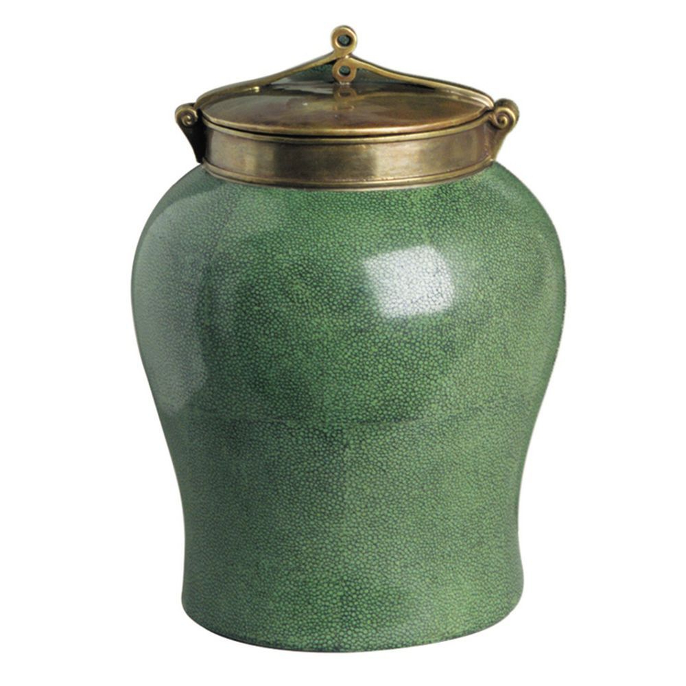 2019 Large Jade Shagreen Jar With Bronze Lidtozai – Seven Intended For Brode Ceramic Garden Stools (View 15 of 31)