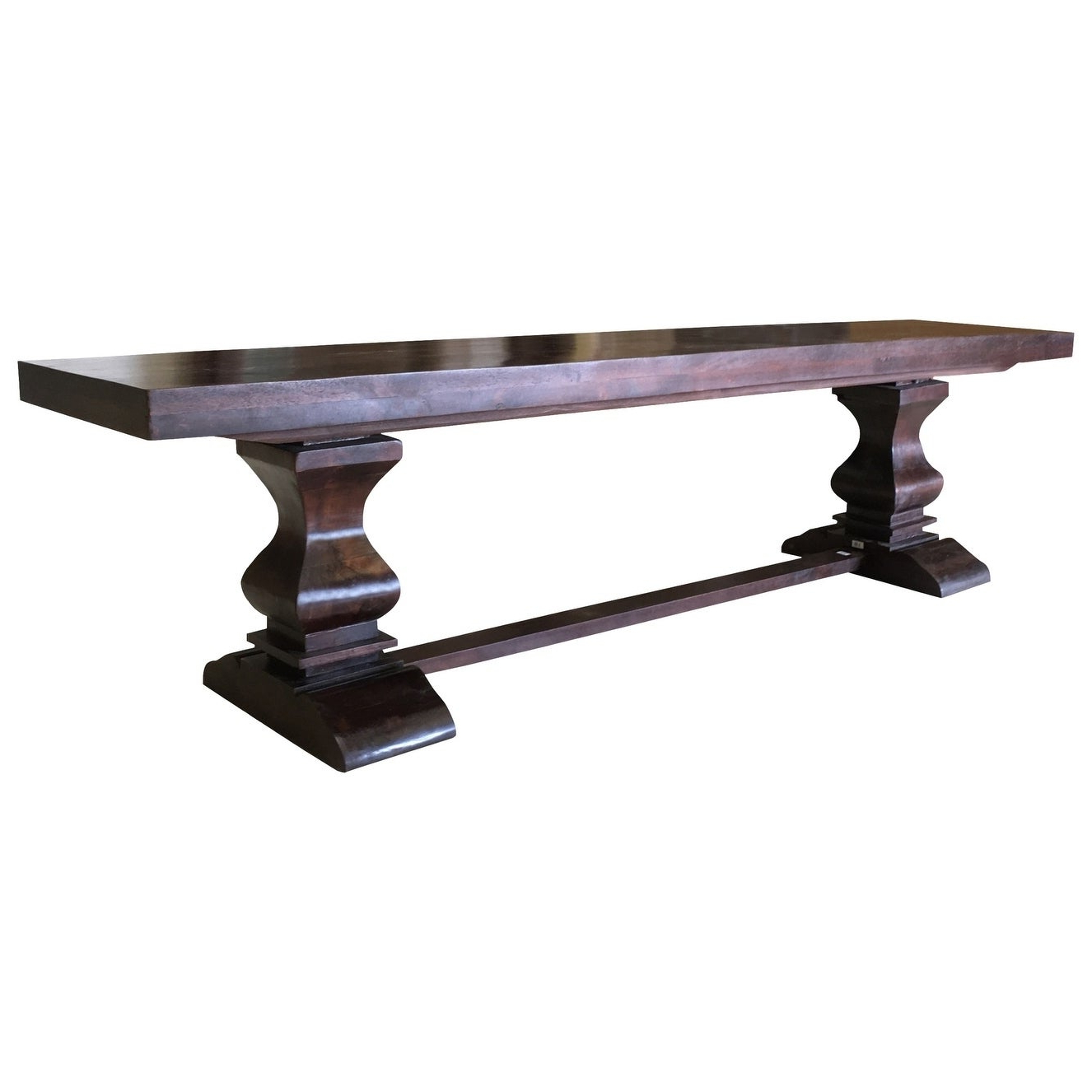 2019 Maliyah Pedestal Wood Bench – 18'' H X 80'' W X 15'' D Throughout Maliyah Wooden Garden Benches (View 8 of 30)