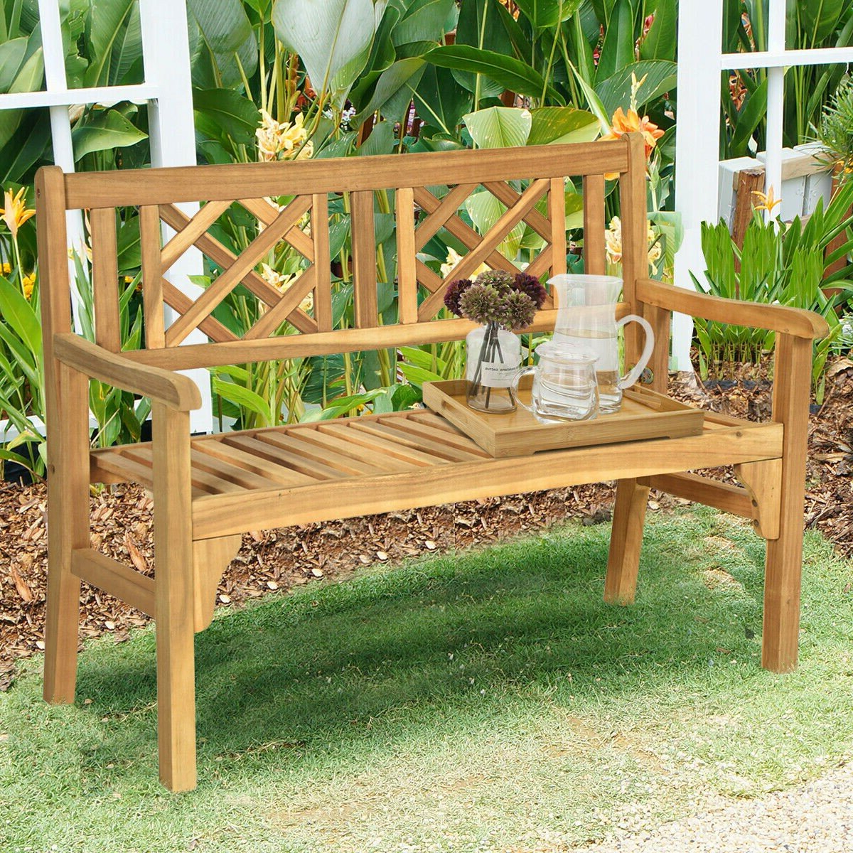 2019 Maliyah Wooden Garden Benches For Maulik Wooden Garden Bench (View 3 of 30)