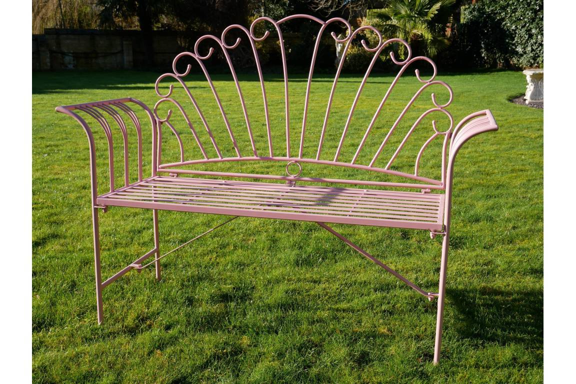 2019 Pink Metal Flamingo Garden Bench Intended For Flamingo Metal Garden Benches (View 2 of 30)