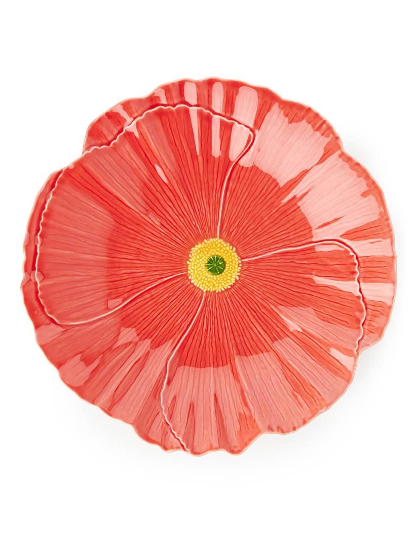 2019 San Raphael Wild Flower Centrepiece Plate, 40 Cm – Red Throughout Wilde Poppies Ceramic Garden Stools (View 26 of 30)