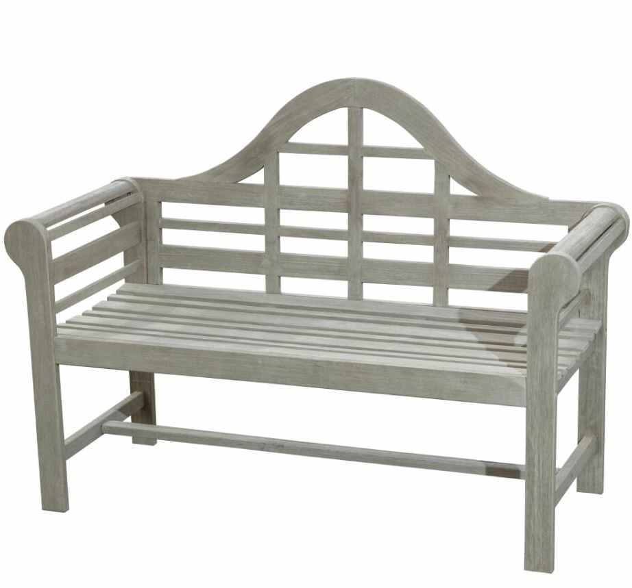 2019 Zephyrine Patio Dining Wooden Picnic Bench In Lucille Timberland Wooden Garden Benches (View 15 of 30)