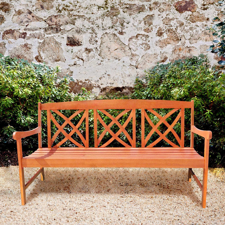 2020 Avoca Wood Garden Bench Inside Guyapi Garden Benches (View 5 of 30)