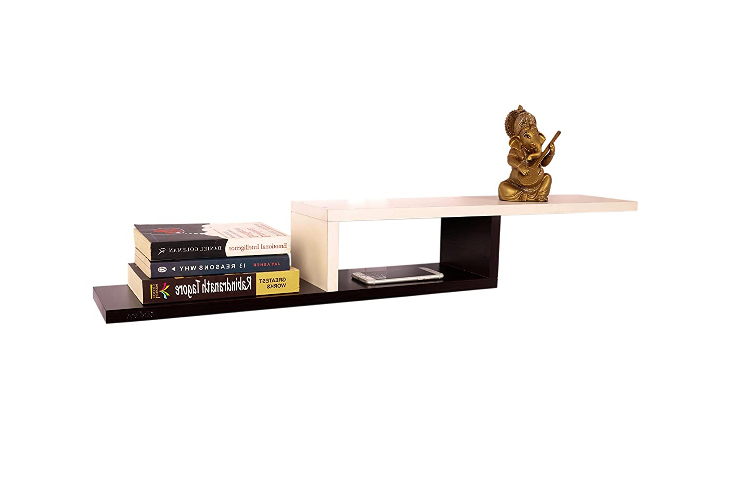 2020 Cavin Wall Decor Book Shelf/wall Display Rack (white/wenge) For Cavin Garden Benches (View 26 of 30)