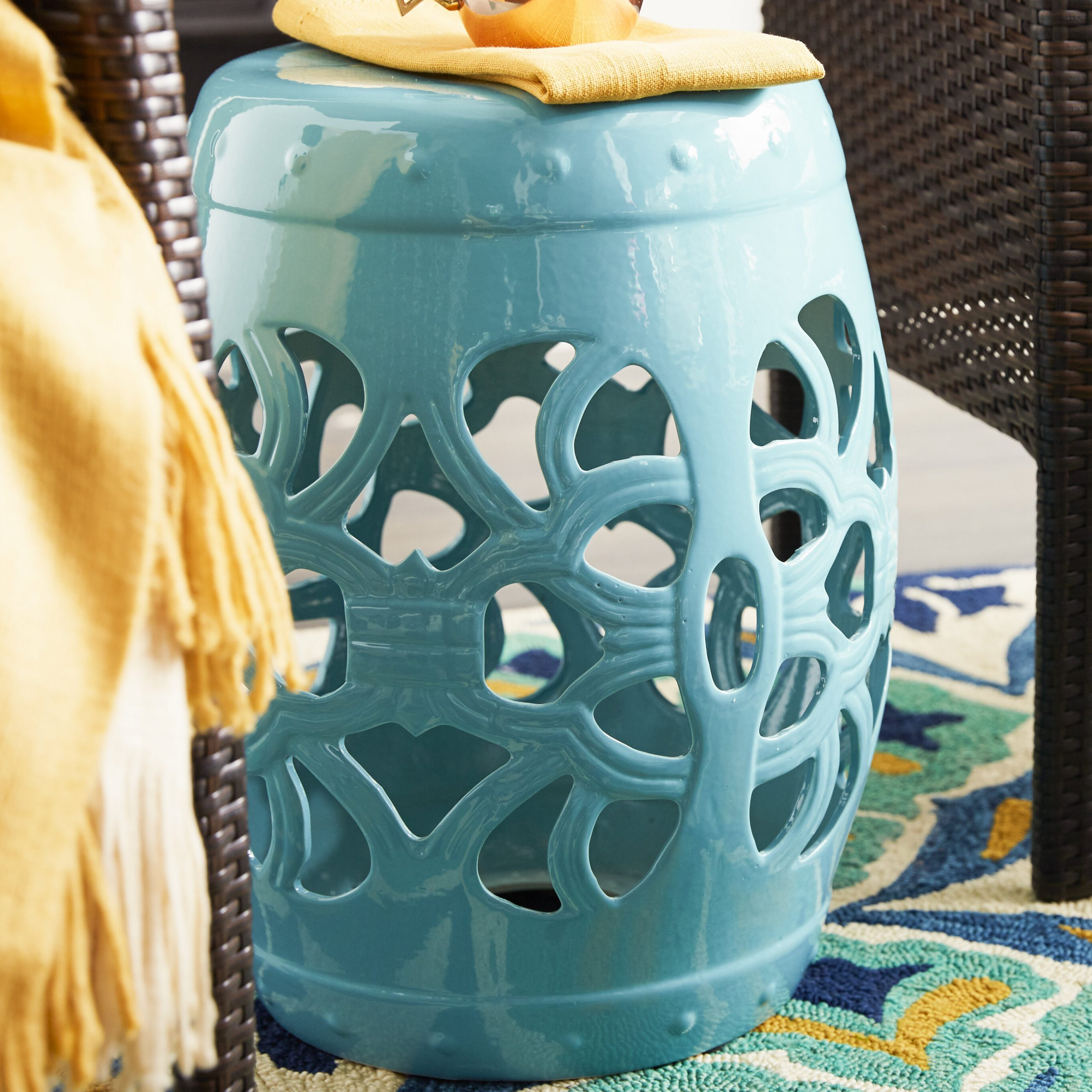 2020 Donofrio Ceramic Garden Stool Regarding Kelston Ceramic Garden Stools (View 30 of 30)