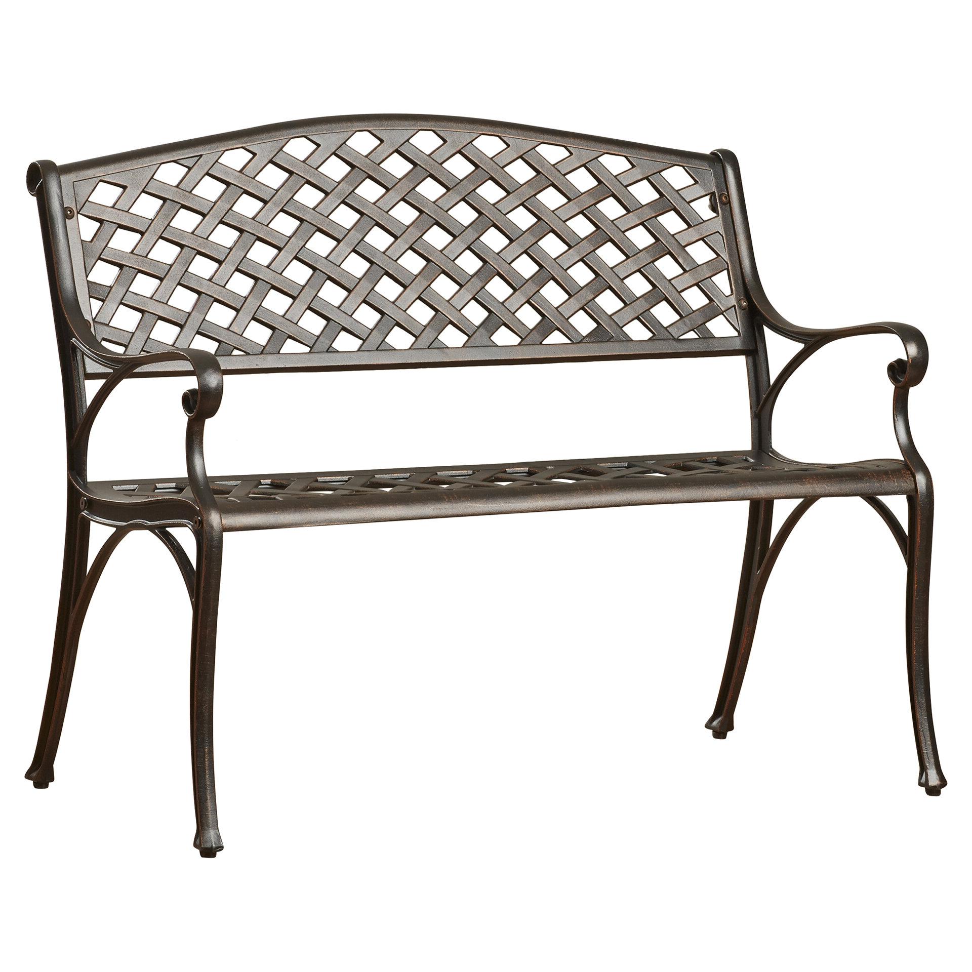 2020 Nouvel Aluminum Garden Bench For Ismenia Checkered Outdoor Cast Aluminum Patio Garden Benches (View 16 of 30)