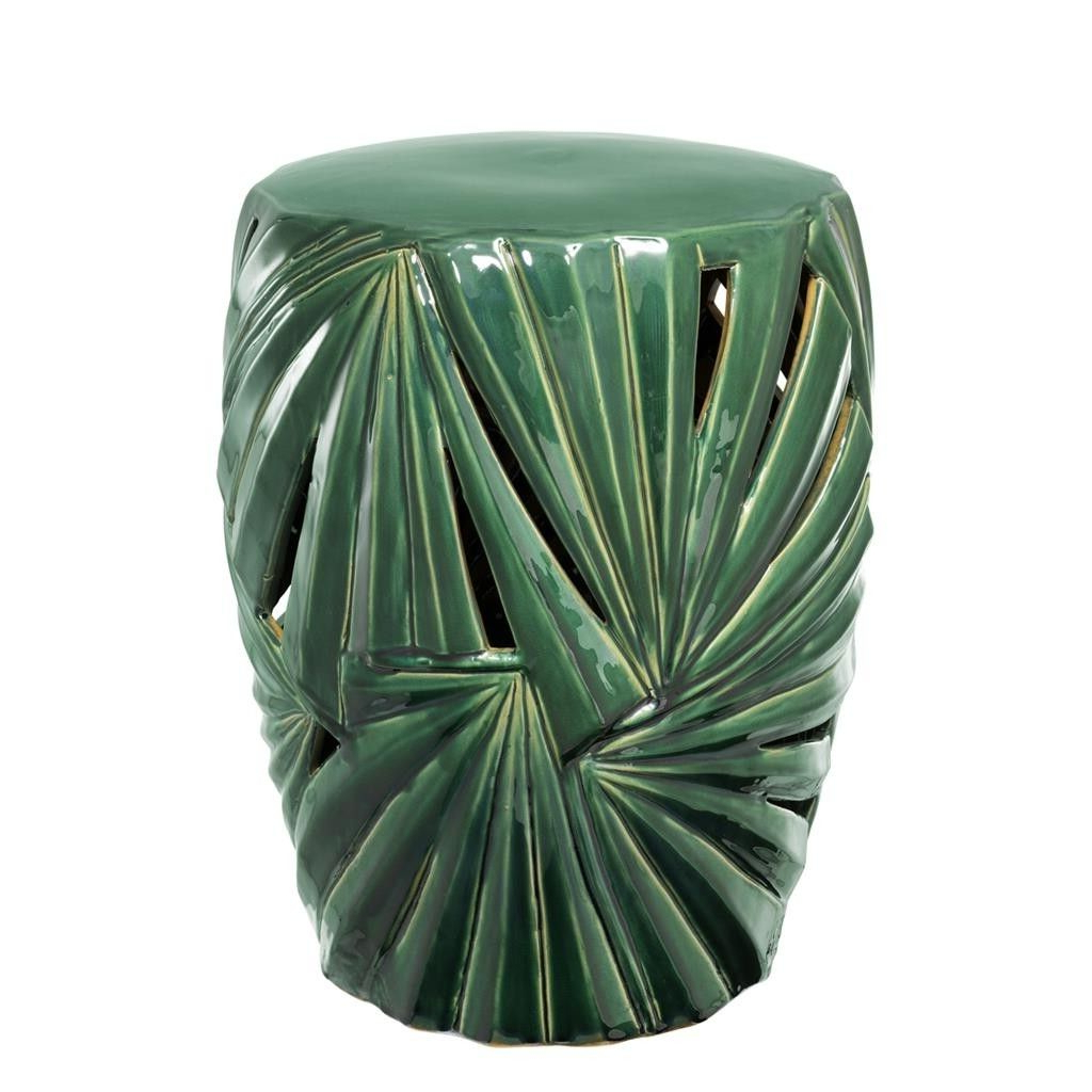 2020 Oakside Ceramic Garden Stools For This Green Side Table Made Of Ceramic Drum In A Antique (View 16 of 30)