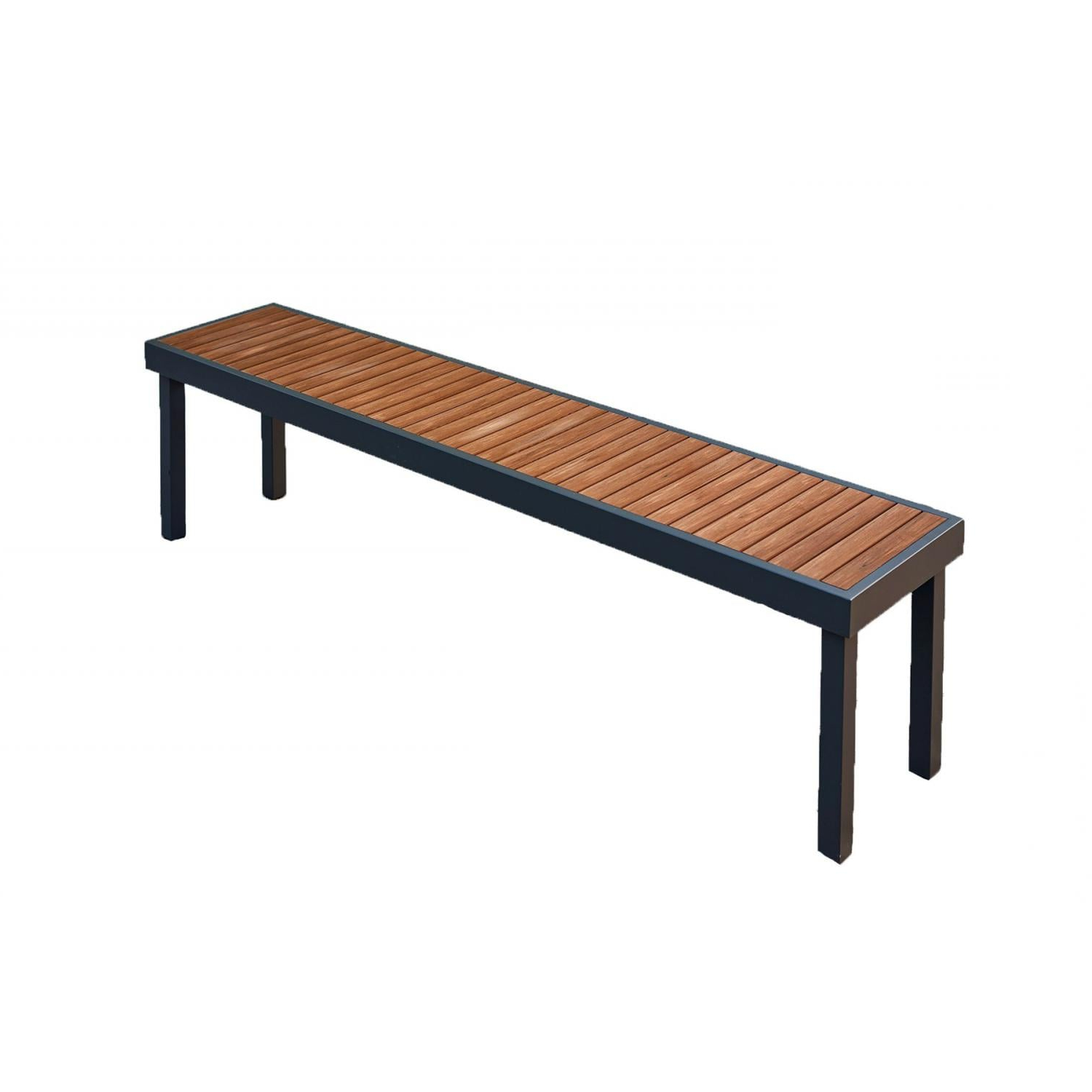 2020 Wallie Teak Garden Benches Regarding The Outdoor Greatroom Company Kenwood Aluminum Teak Picnic Bench Kw Lb (View 17 of 30)