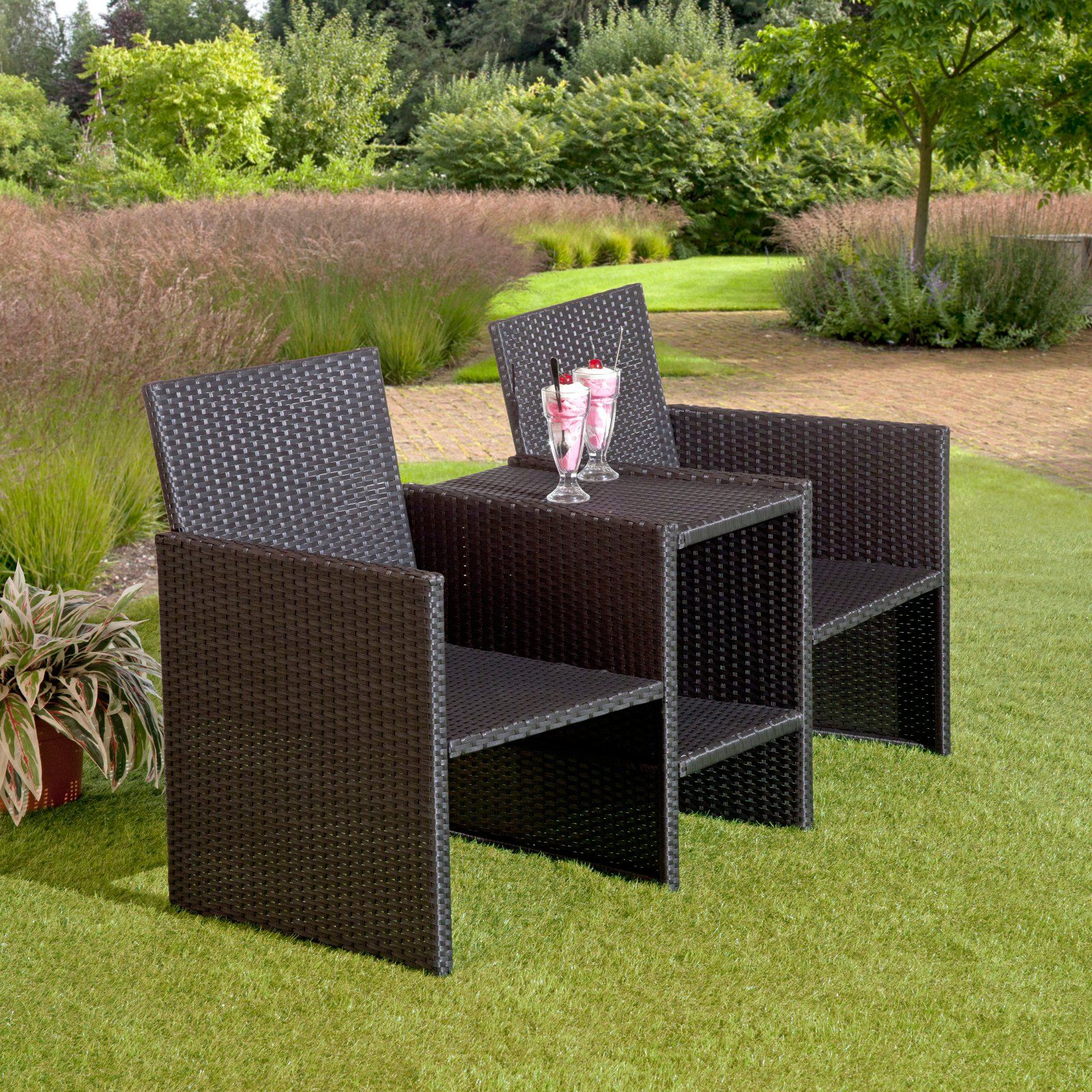 2020 Wicker Tete A Tete Benches Within Suntime Outdoor Living Rattan Outdoor Tete A Tete Bench (View 18 of 30)