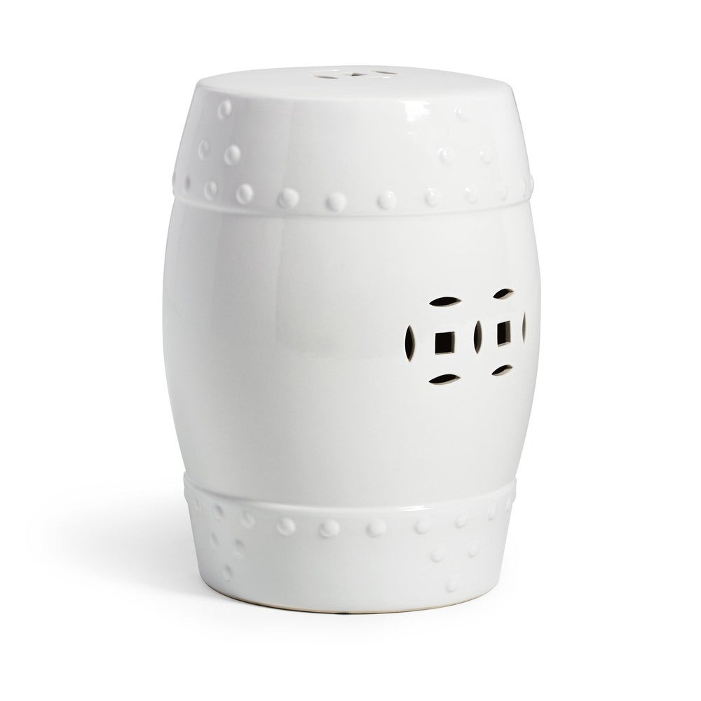 Abbyson Madras White Ceramic Garden Stool Pertaining To Most Recently Released Bonville Ceramic Garden Stools (View 9 of 30)