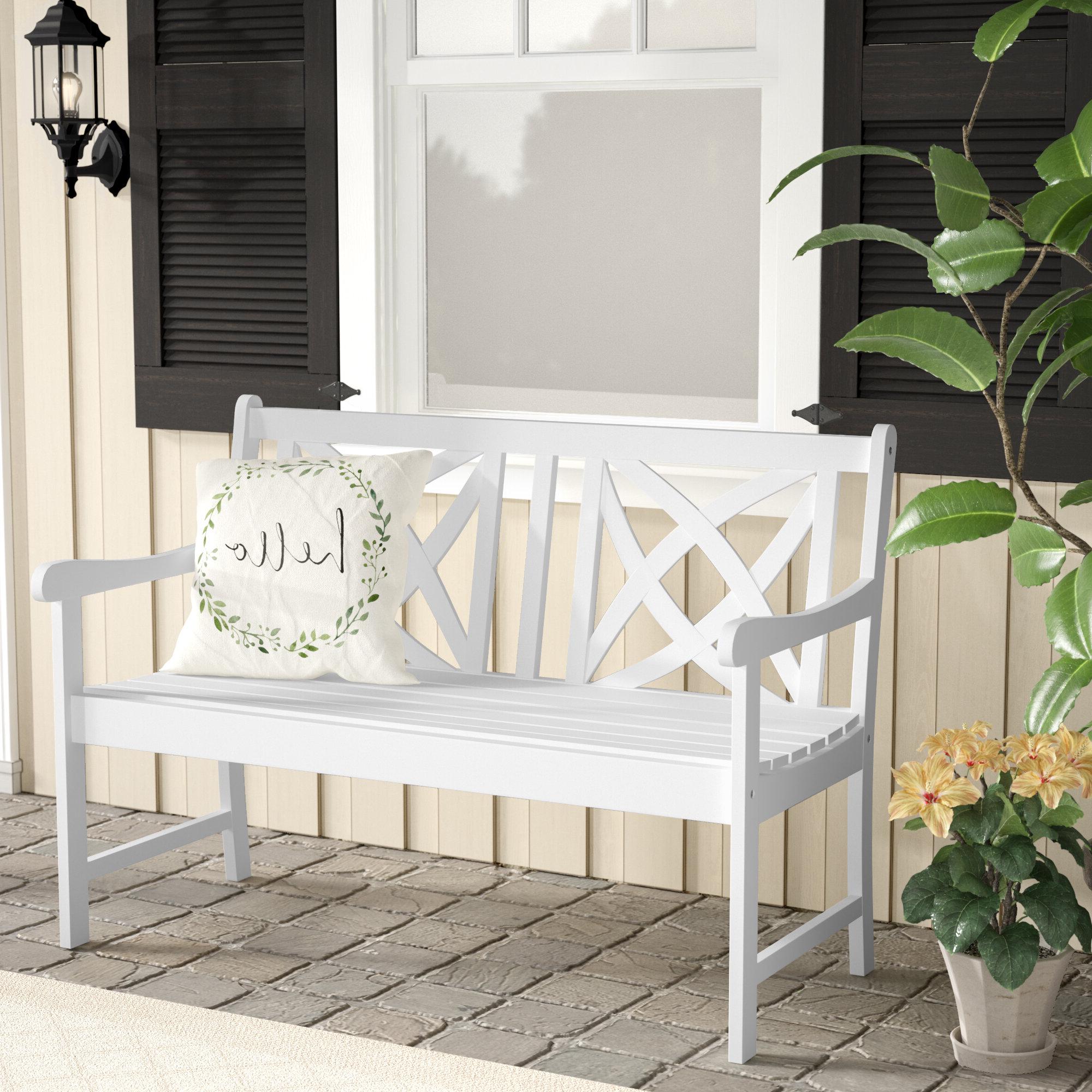 Ahana Wooden Garden Benches In Trendy Delavan Wooden Garden Bench (View 7 of 30)