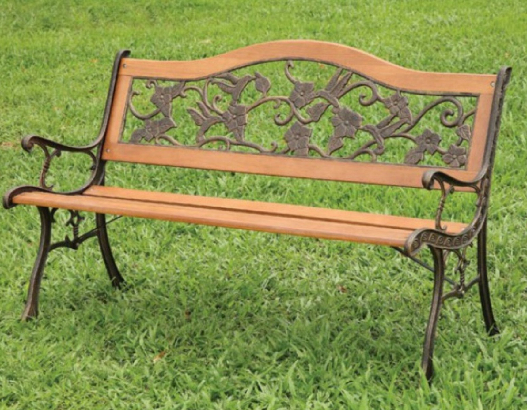 Alfon Wood Garden Benches Pertaining To Most Popular Carondelet Garden Bench (View 16 of 30)