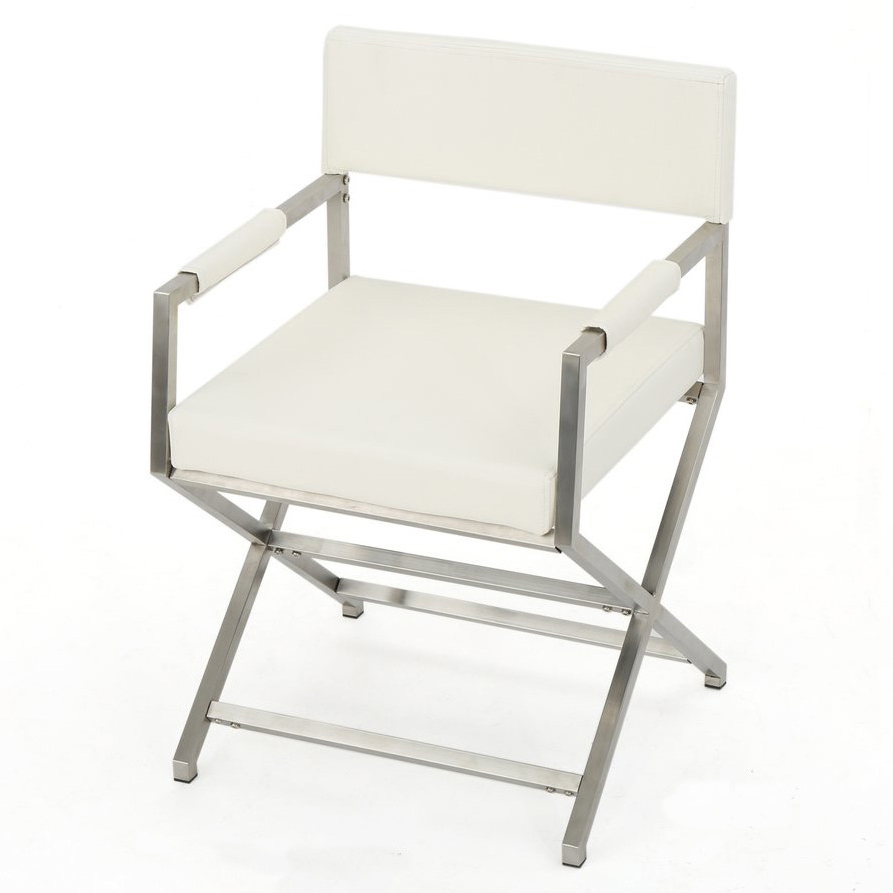 Allira Faux Leather Director Chair Throughout 2019 Norrie Metal Garden Benches (View 26 of 30)
