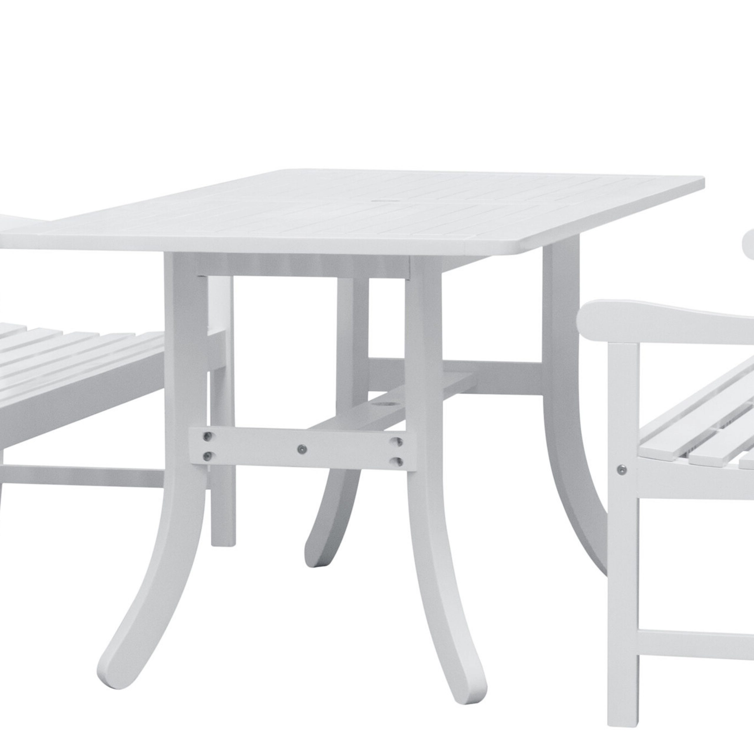 Amabel Patio Diamond Wooden Garden Benches Throughout Favorite Amabel 3 Piece Patio Dining Set (View 12 of 30)