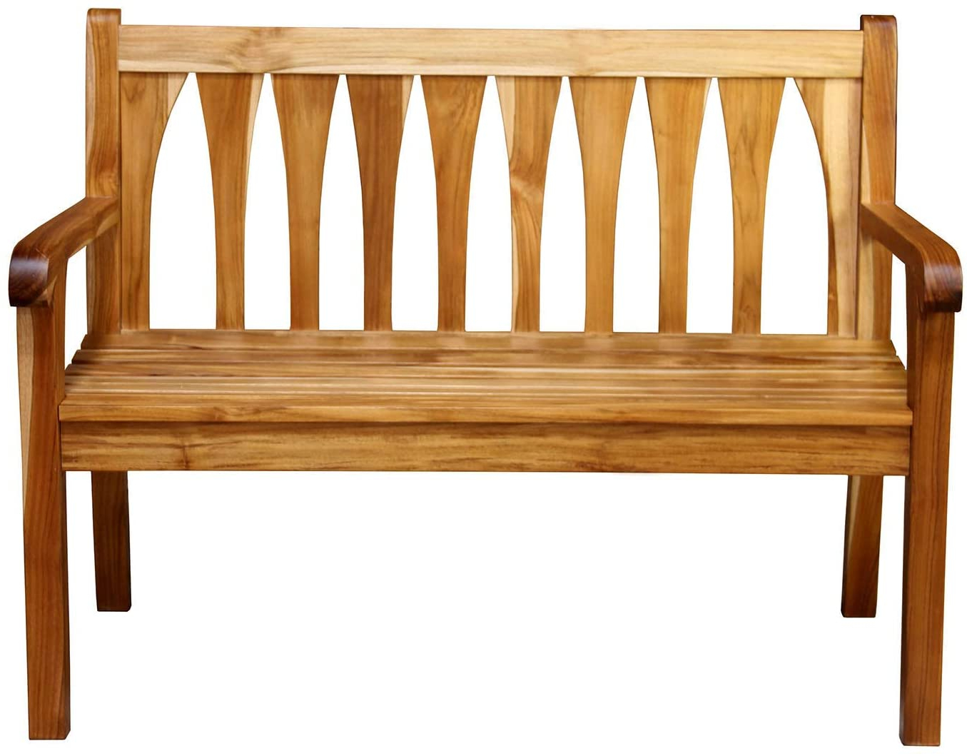 "Amazon : Ecodecors Tranquility 47"" Teak Wood Outdoor Throughout Well Known Hampstead Teak Garden Benches (View 18 of 30)"