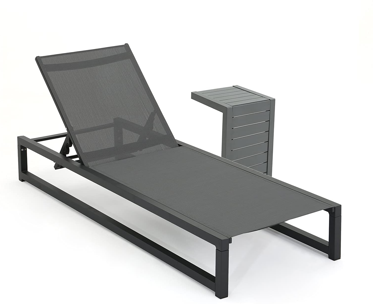 Amazon: Michelle Outdoor Grey Mesh And Black Finish Rust Within Well Known Michelle Metal Garden Benches (View 7 of 30)