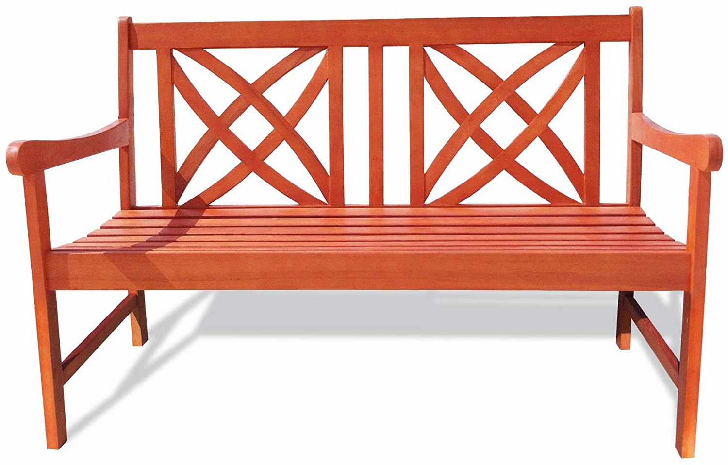 Amazon : Vifah Siesta Red Brown 4ft Magnolia Eucalyptus Regarding 2020 Guyapi Garden Benches (View 23 of 30)