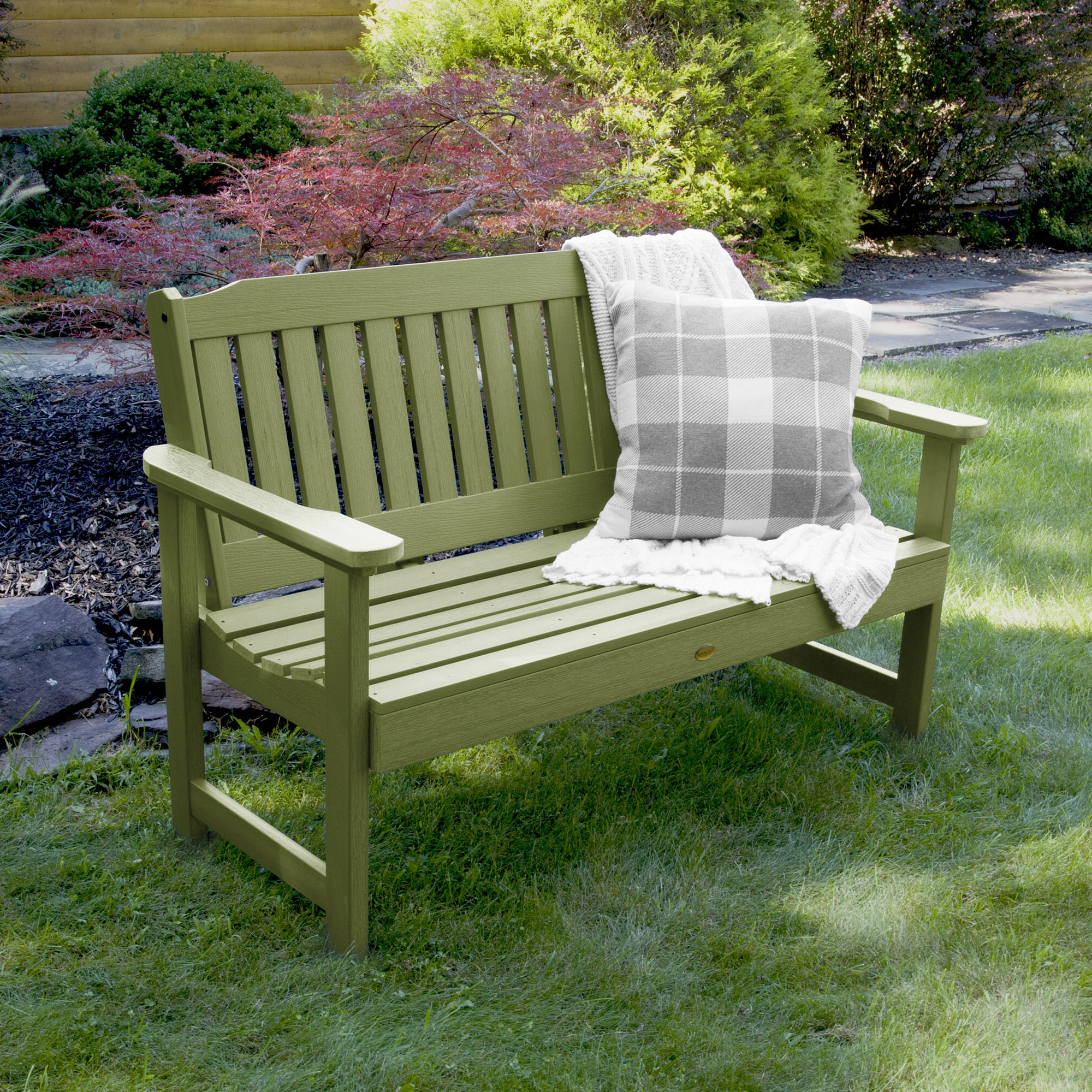 Amelia Plastic Garden Bench & Reviews (View 21 of 30)