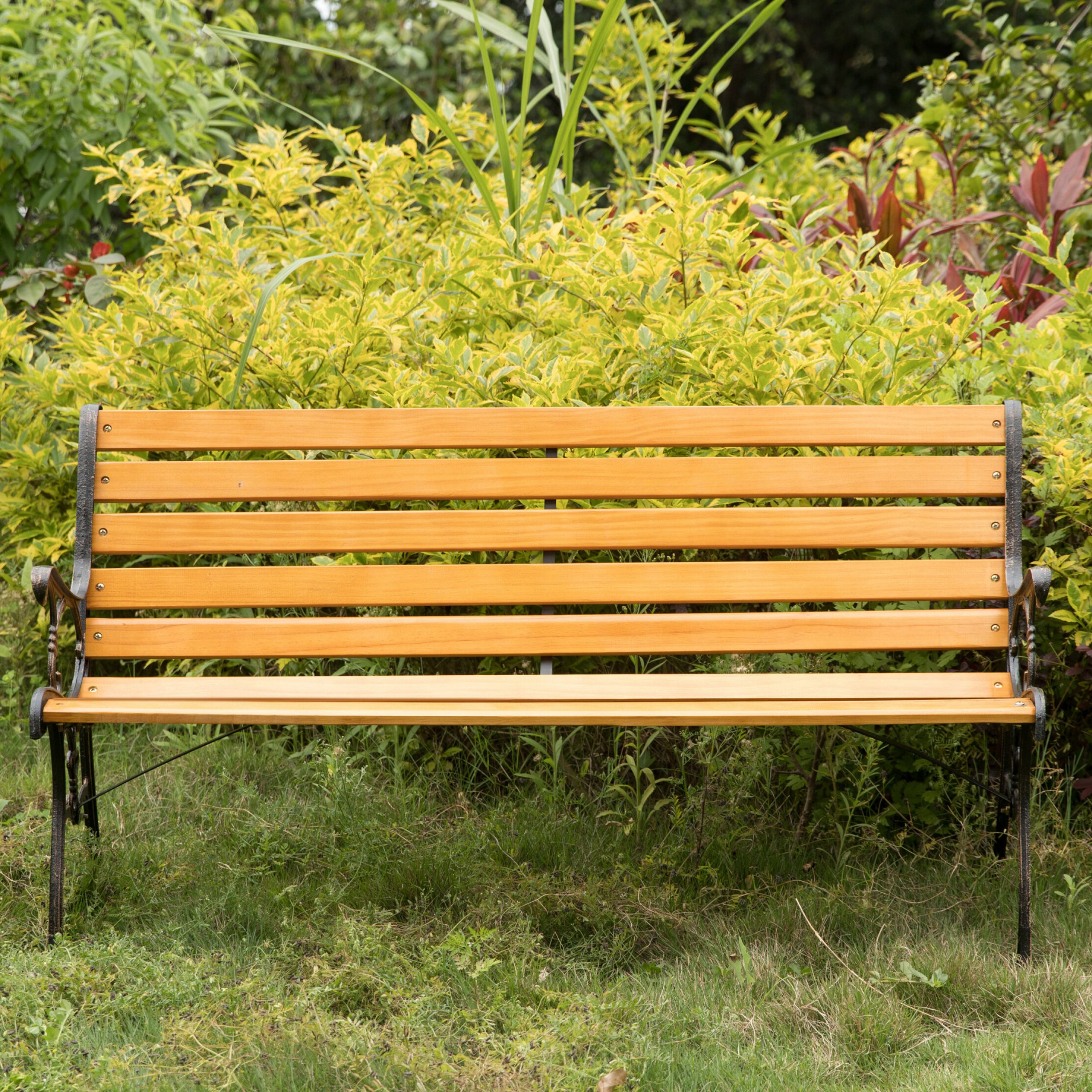 Amett Durable Steel And Solid Wood Park Bench With Regard To Famous Ishan Steel Park Benches (View 10 of 30)
