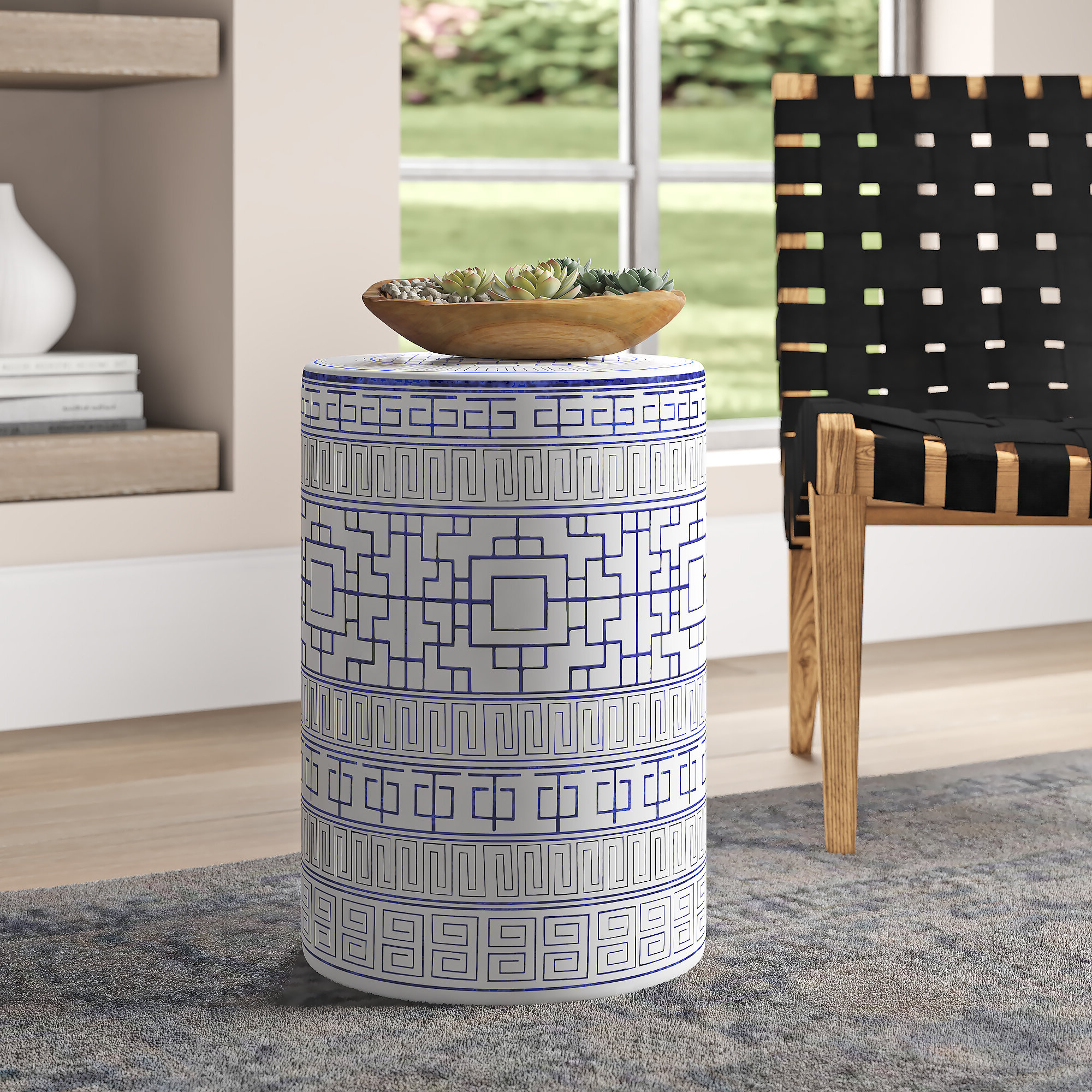 Anakin Ceramic Garden Stool Within Widely Used Winterview Garden Stools (View 8 of 30)