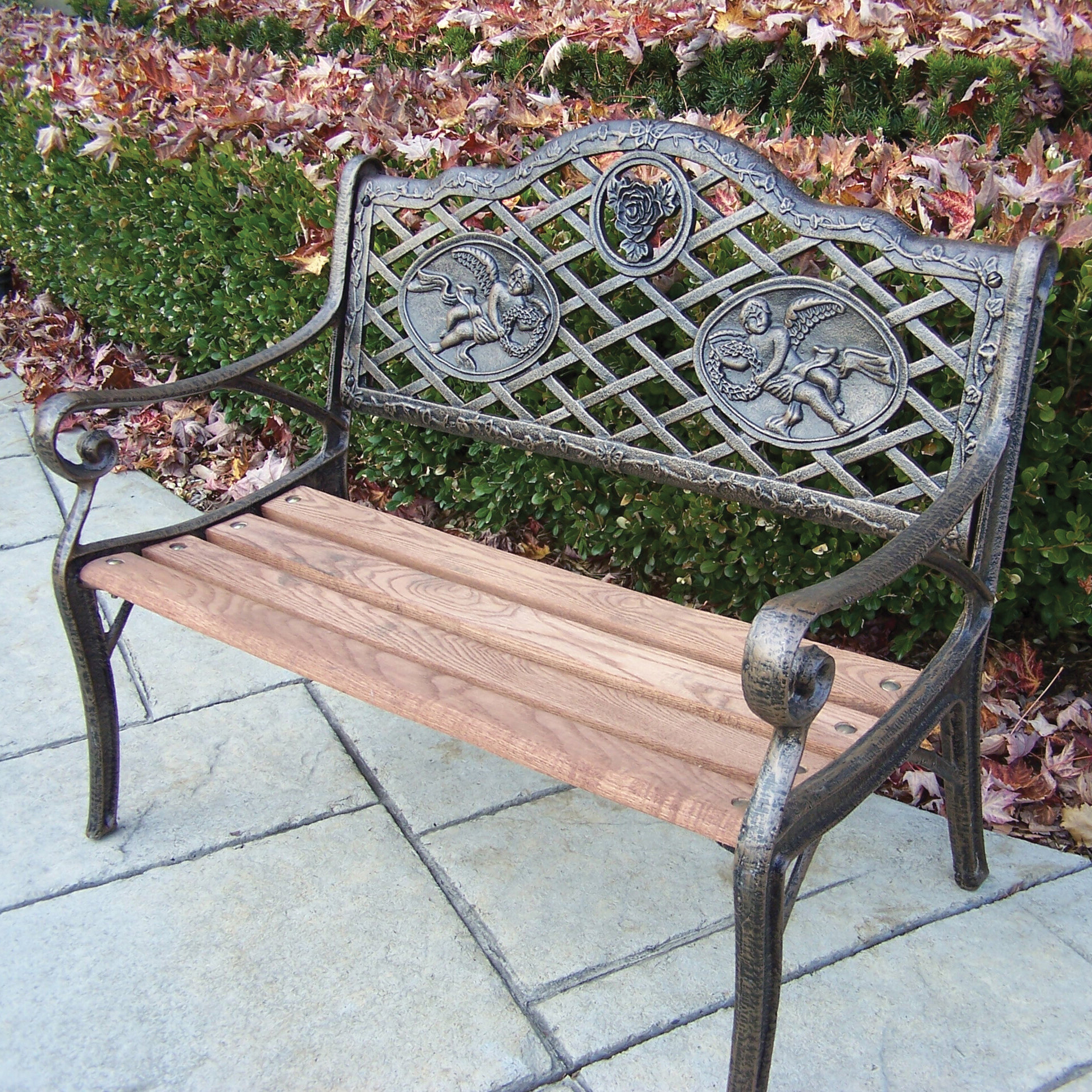 Angel Kiddy Wood And Cast Iron Park Bench For 2020 Ossu Iron Picnic Benches (View 15 of 30)