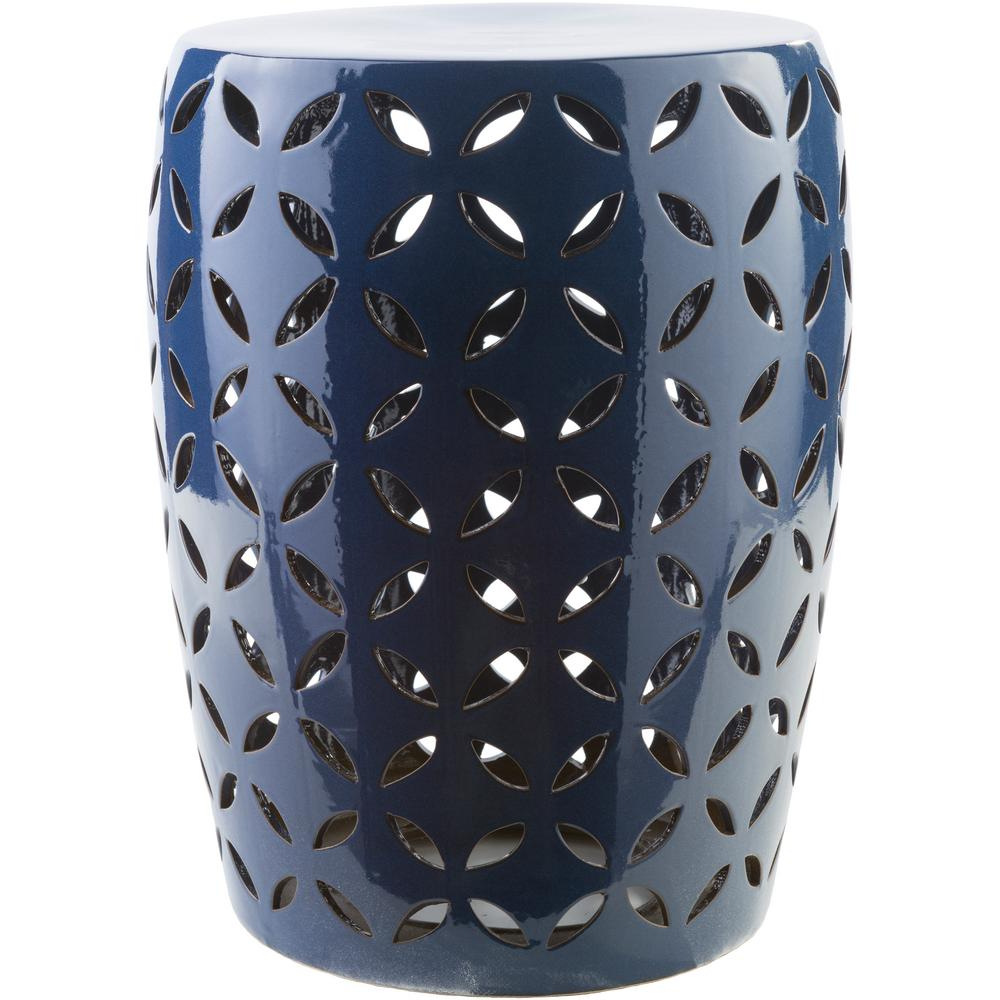 Araceli Cobalt (blue) Garden Stool – Home Depot With Regard To Best And Newest Tillia Ceramic Garden Stools (View 13 of 30)