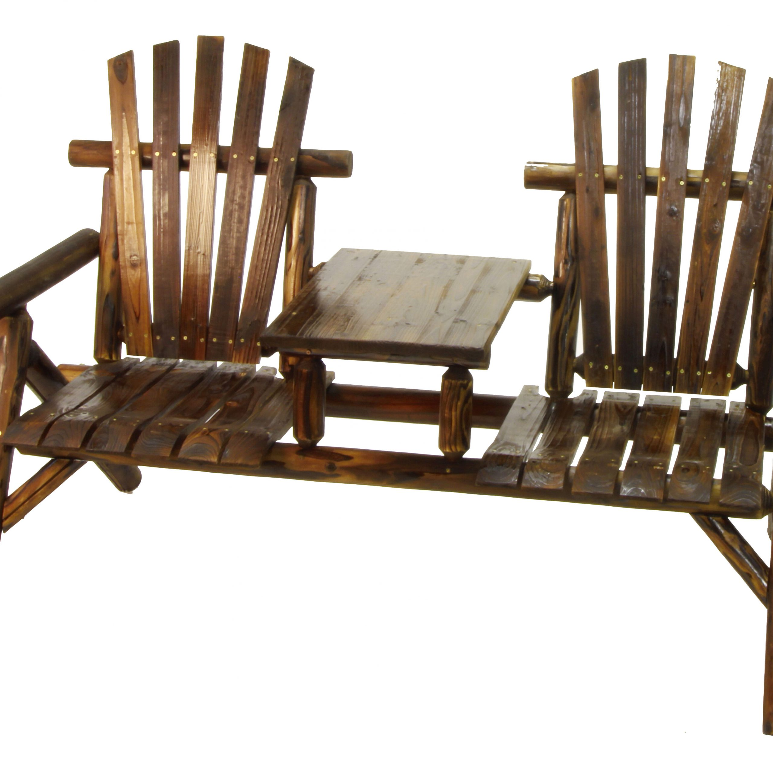 Argonne 2 Seat Fir Wood Tete A Tete Bench For Most Popular Lublin Wicker Tete A Tete Benches (View 9 of 30)
