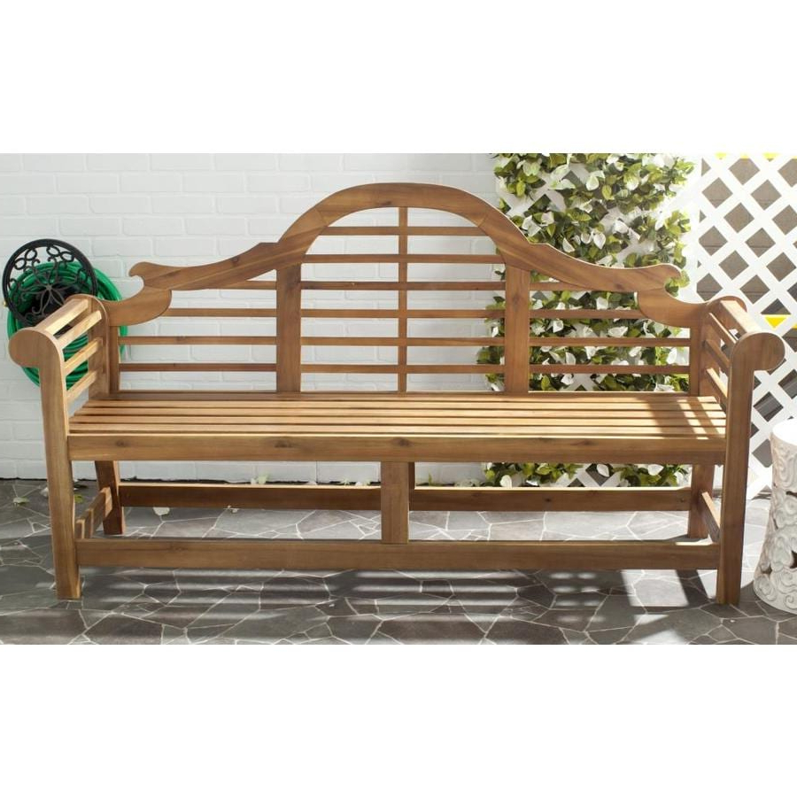 Avoca Wood Garden Benches Inside Most Recent Safavieh Khara 76.8 In W X (View 21 of 30)