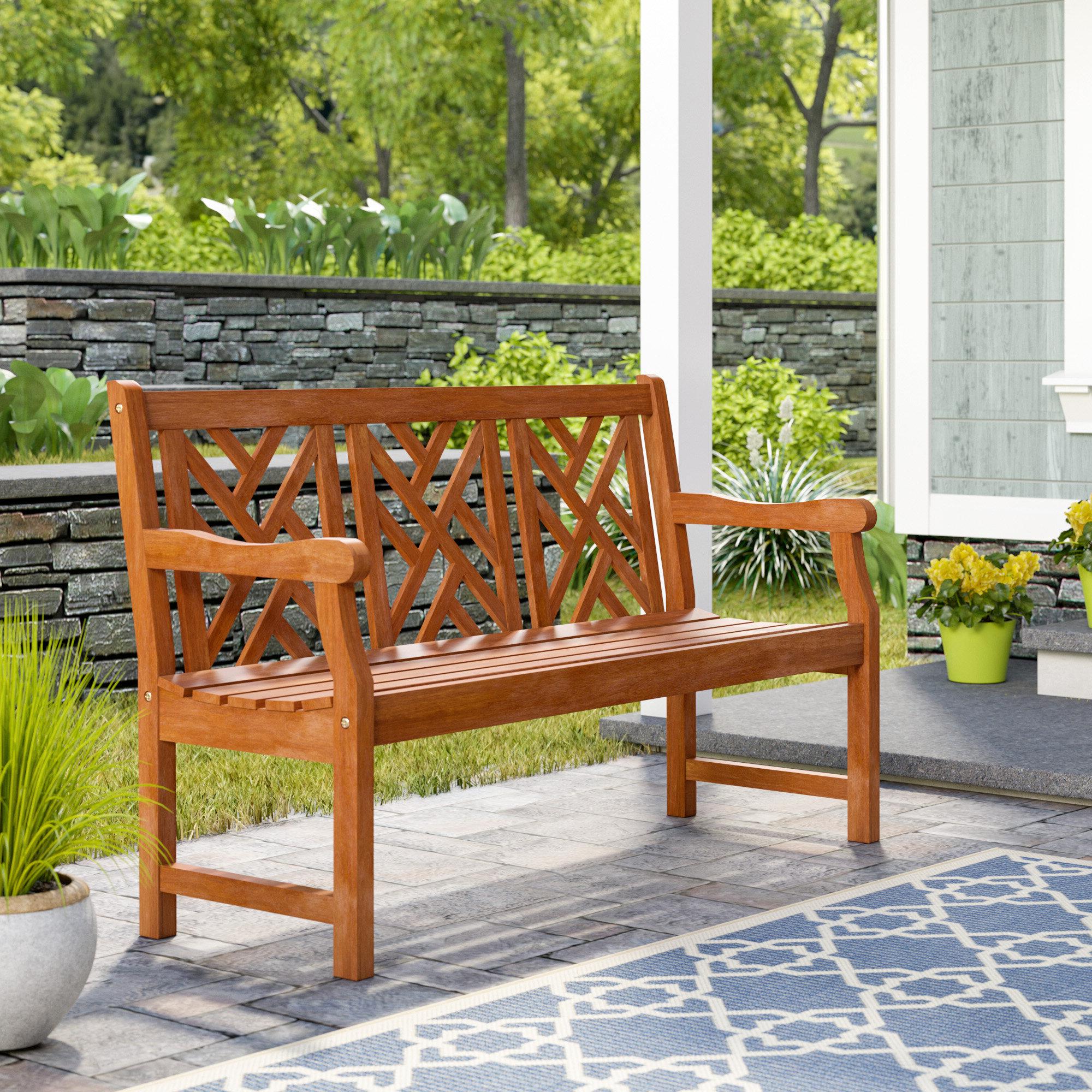 Avoca Wood Garden Benches Regarding Well Liked Amabel Wooden Garden Bench (View 4 of 30)