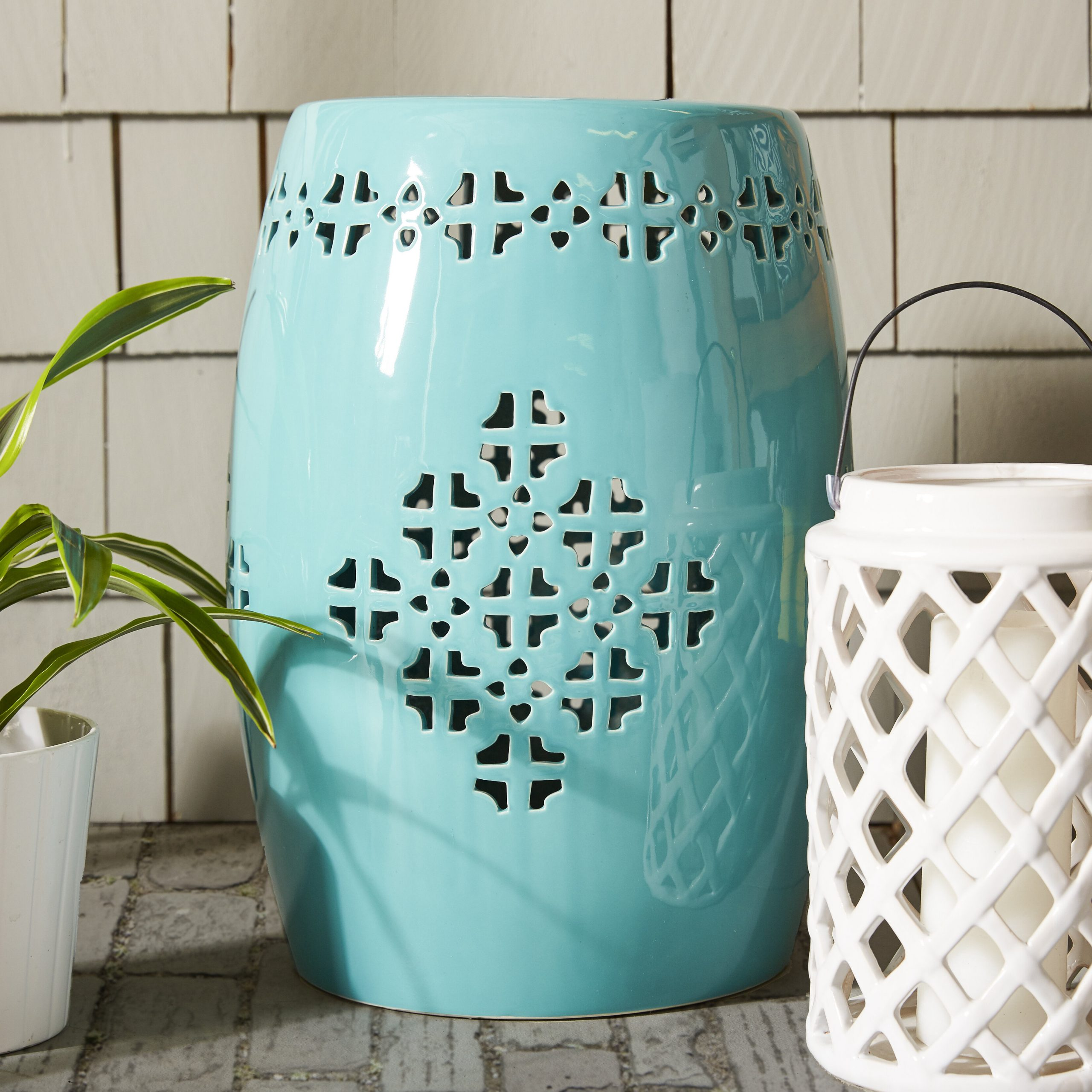 Beachcrest Home Lorelei Ceramic Garden Stool For Most Recent Holbrook Ceramic Garden Stools (View 25 of 30)
