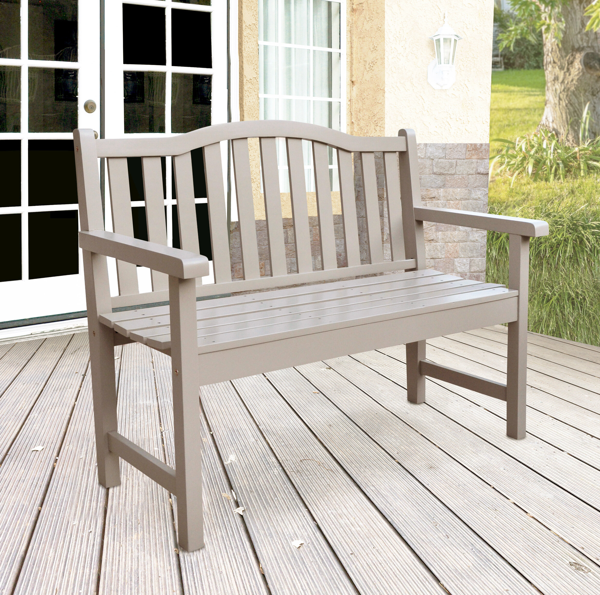 Belfort Cedar Garden Bench Intended For Well Liked Harpersfield Wooden Garden Benches (View 14 of 30)