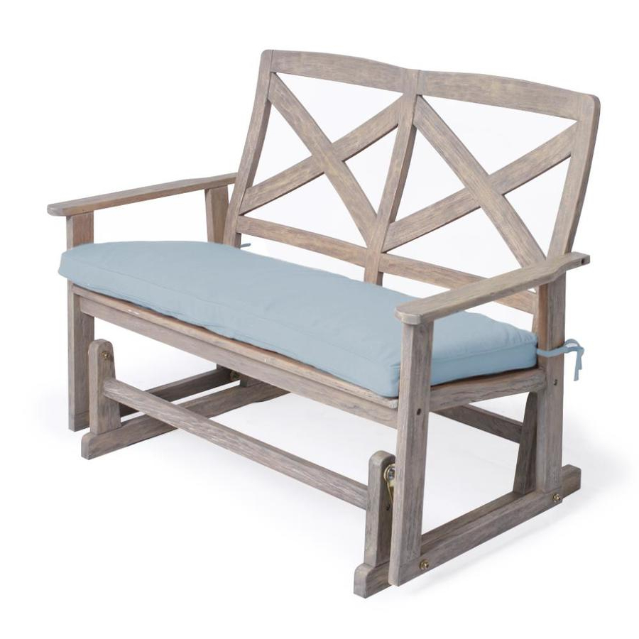 Best And Newest Avoca Wood Garden Benches Intended For Cambridge Casual Tulle 2 Person Weathered Gray Wood Outdoor (View 29 of 30)