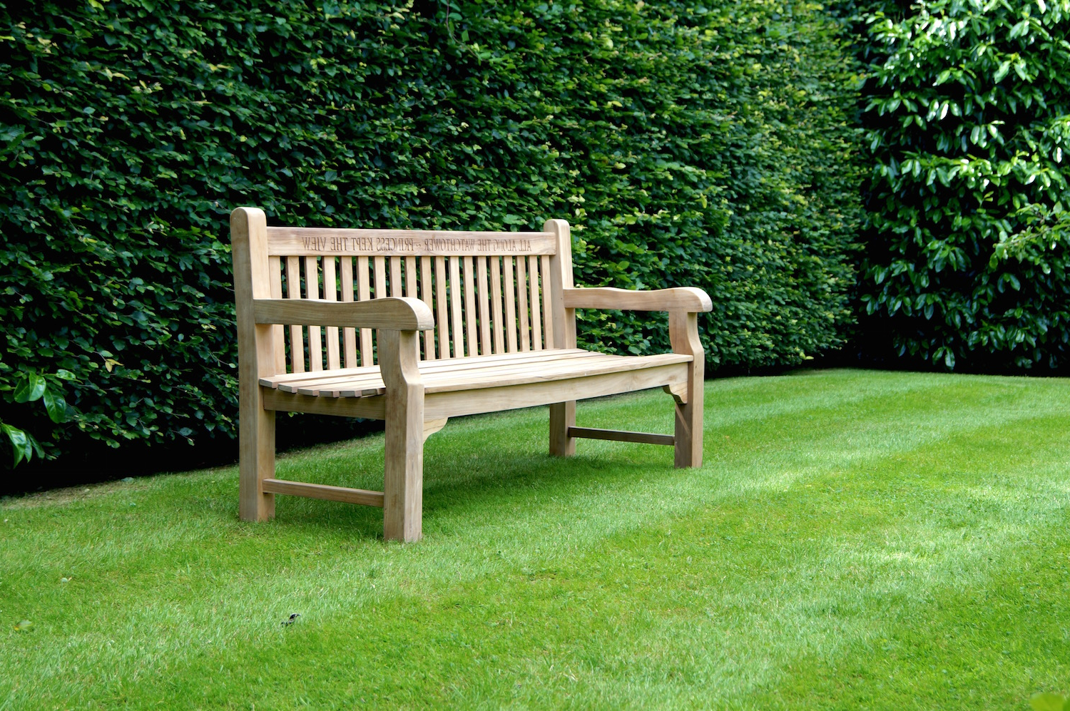 Best And Newest Our Park Land Personalised Wooden Benches With Manchester Solid Wood Garden Benches (View 9 of 30)