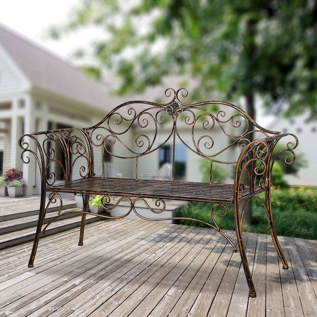 Blooming Iron Garden Benches With Well Known Bench Metal Antique Garden Bench With Decorative Cast Iron (View 16 of 30)