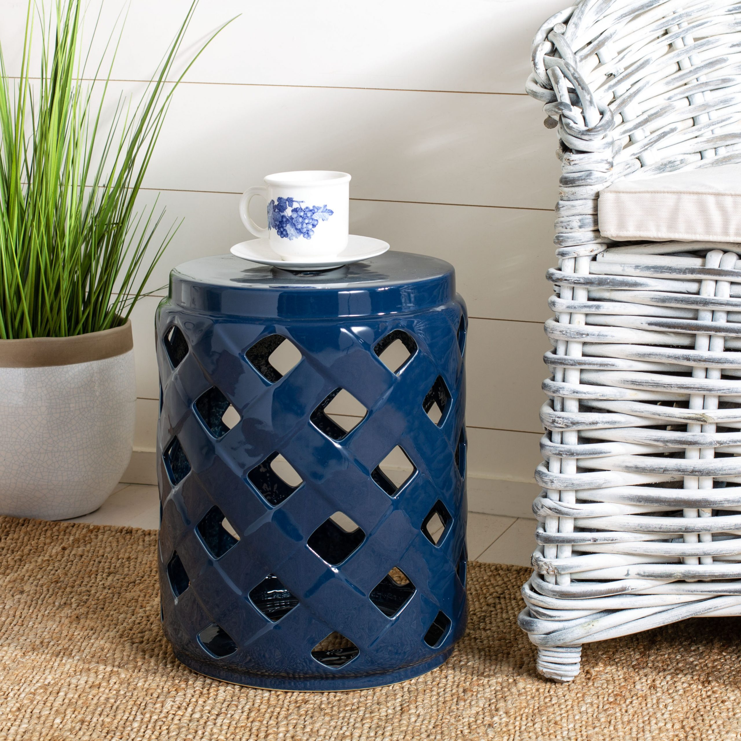 Blue & White Garden Stools You'll Love In (View 9 of 31)