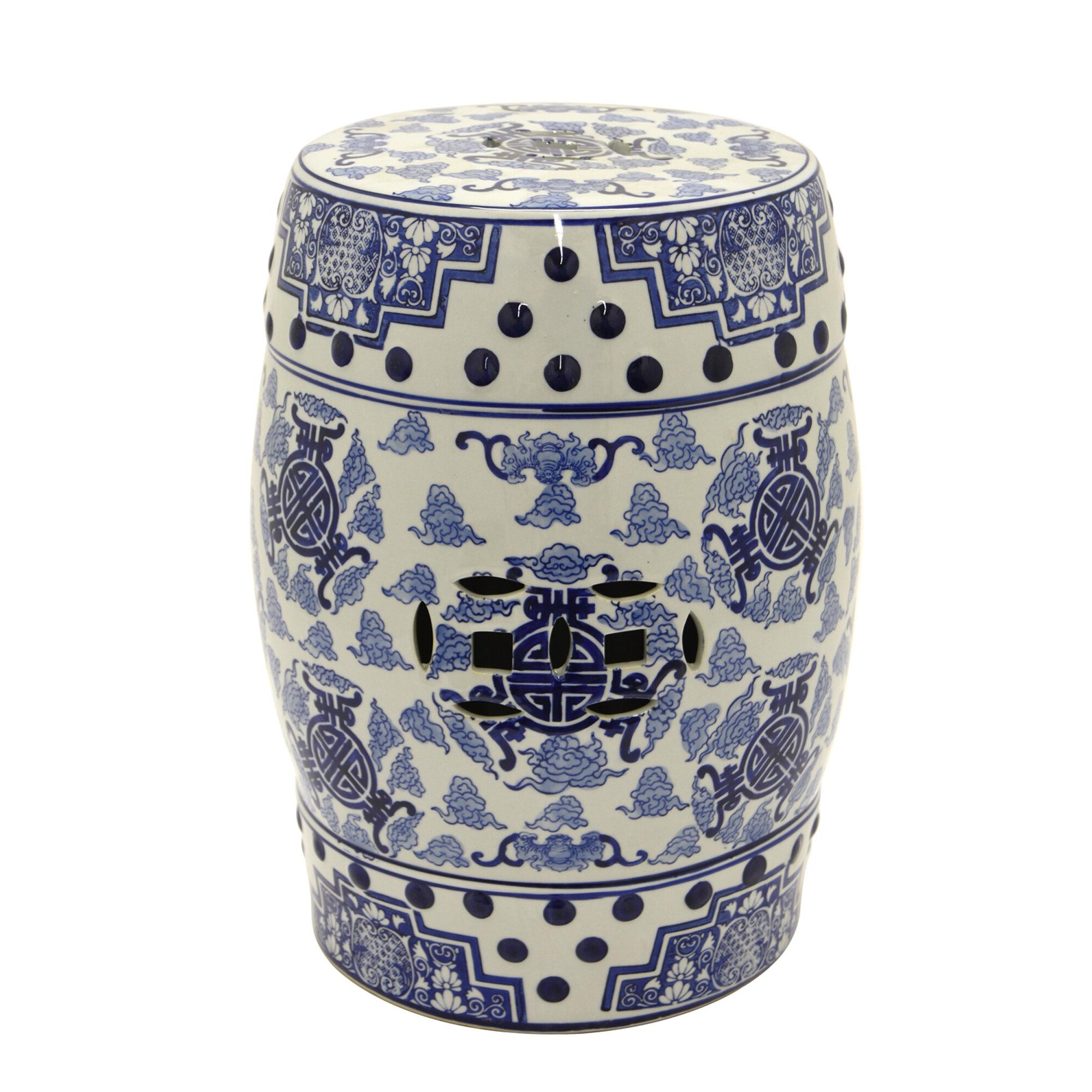 Bodner Ceramic Garden Stool Pertaining To Most Current Murphy Ceramic Garden Stools (View 3 of 30)