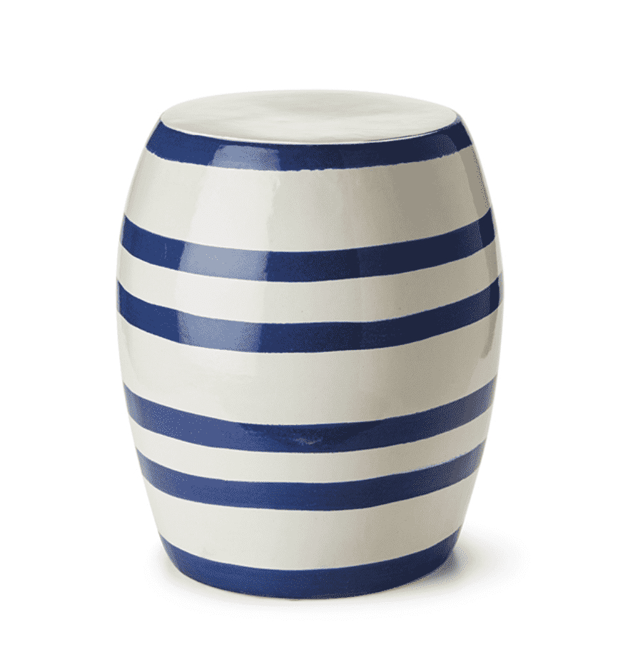 Bracey Garden Stools For Widely Used Seaside Striped Garden Stool In (View 3 of 30)