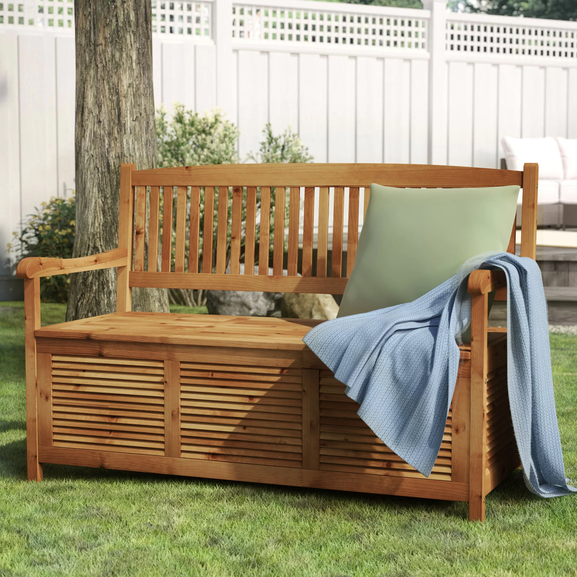 Brecken Teak Garden Benches Within Favorite Zephyrine Patio Dining Wooden Picnic Bench (View 12 of 30)