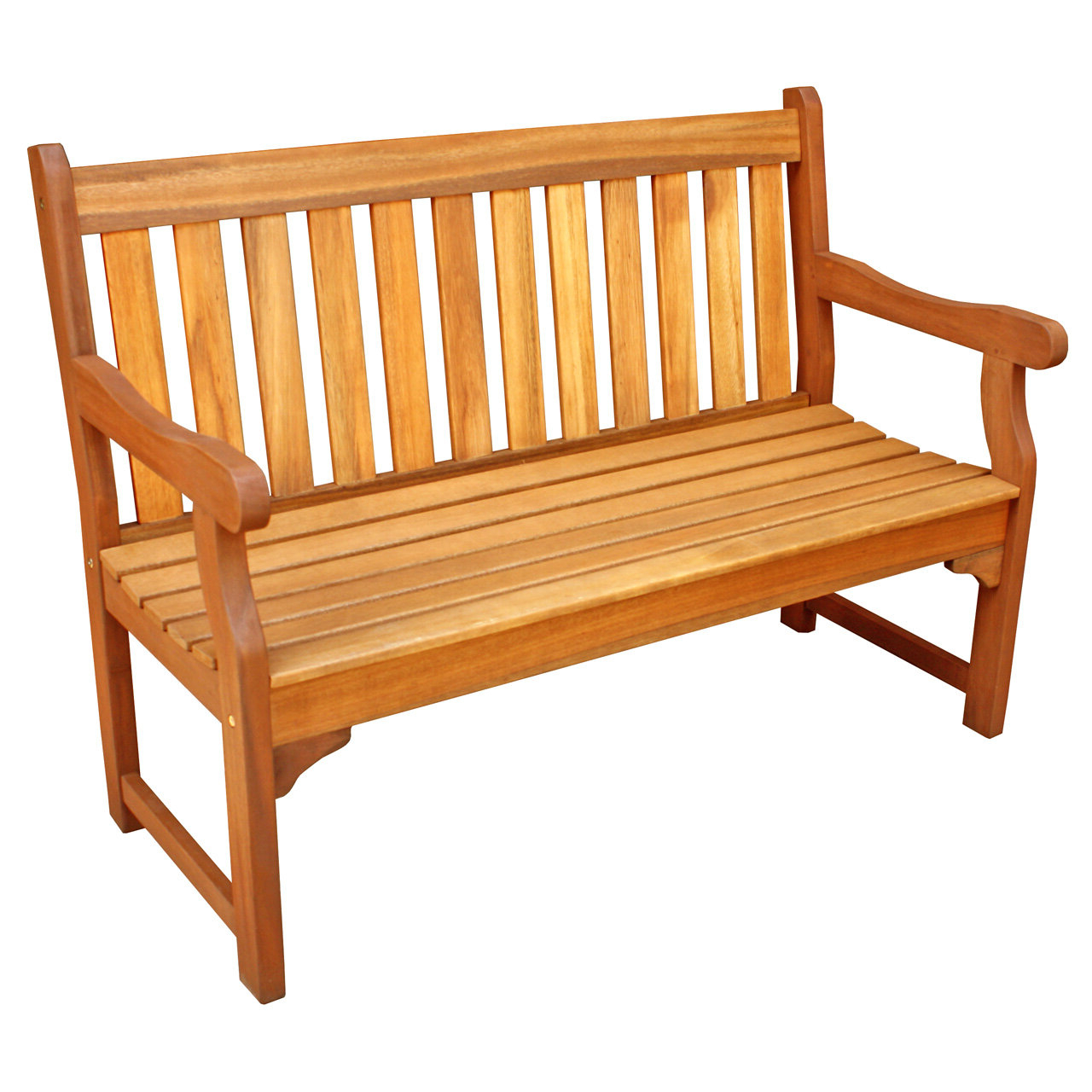 Cadsden Hardwood Garden Bench For Newest Alfon Wood Garden Benches (View 14 of 30)