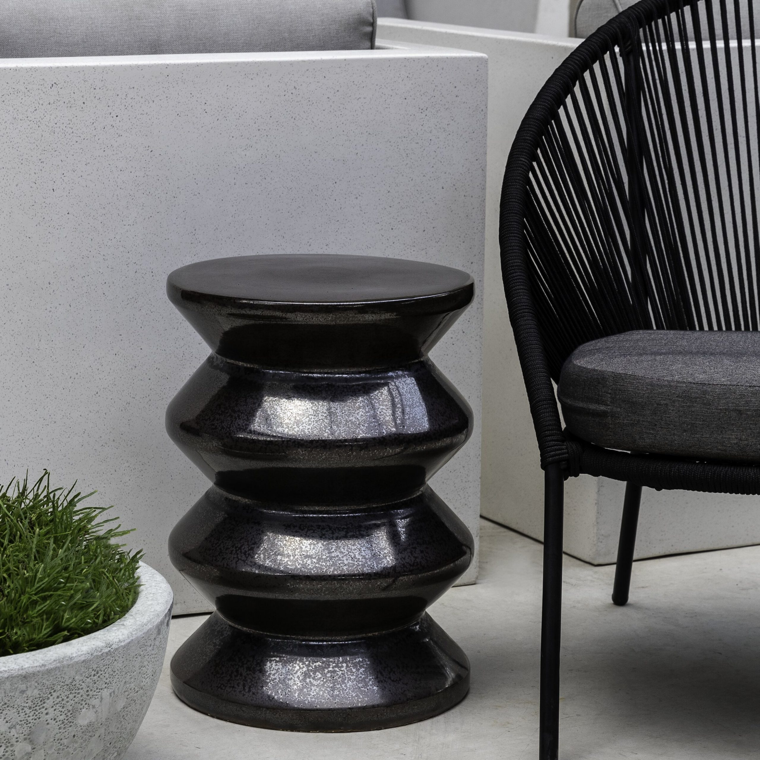 Carmon Ceramic Garden Tool For Favorite Zigzag Ceramic Garden Stool (View 20 of 30)