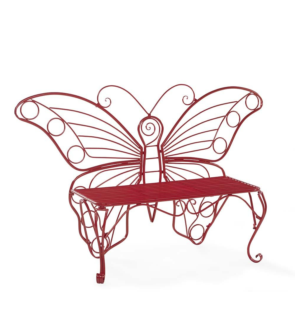 Caryn Colored Butterflies Metal Garden Benches Pertaining To Most Up To Date Pin On Butterflies (View 11 of 30)