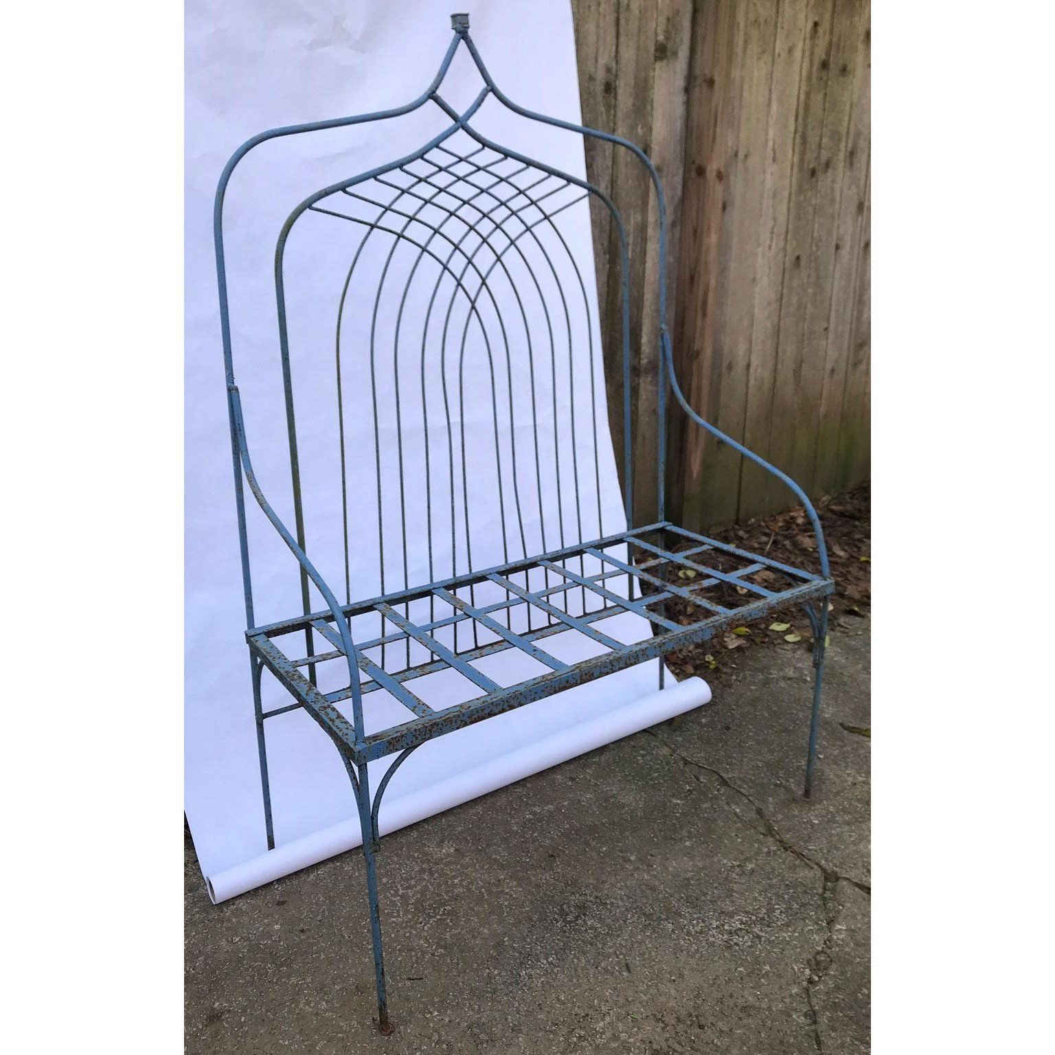 Cavin Garden Benches In Most Recently Released Vintage French Garden Bench For Sale – Image 4 Of (View 5 of 30)