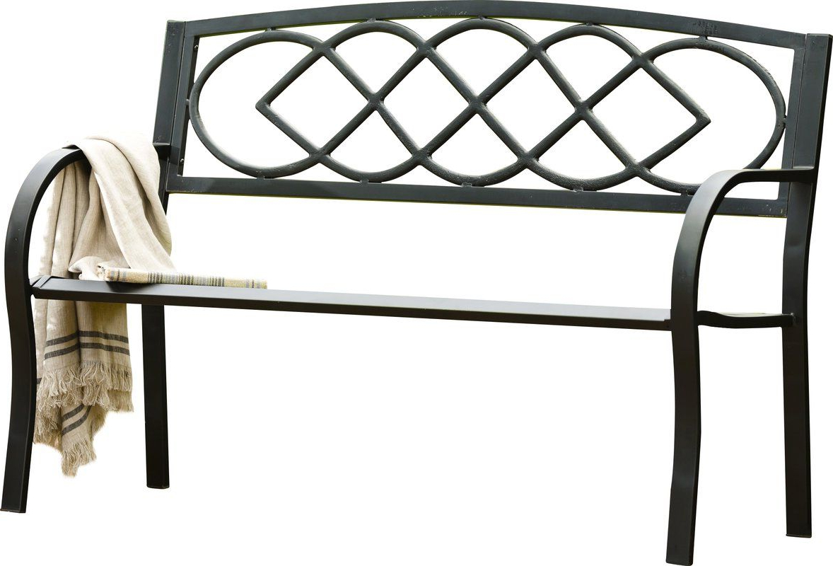 Celtic Knot Iron Garden Bench (View 4 of 30)