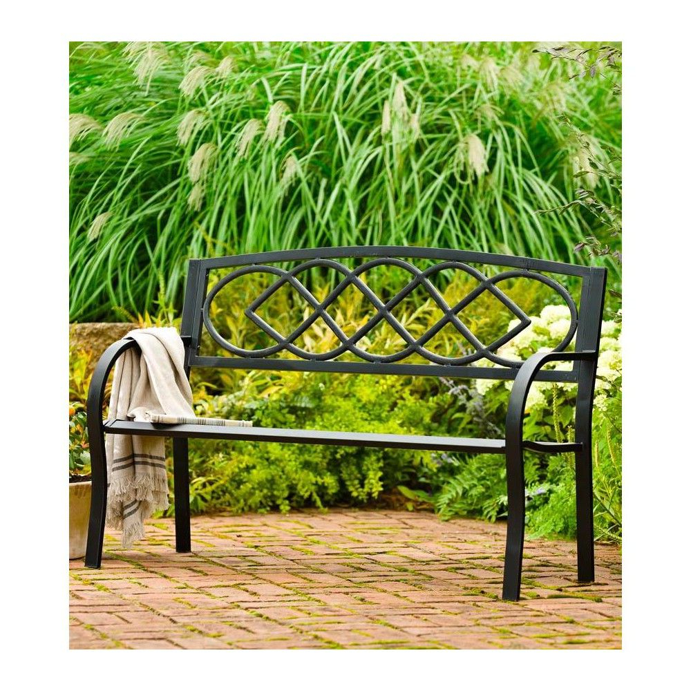 Celtic Knot Iron Garden Benches Pertaining To Famous Cast Iron Outdoor Garden Bench With Celtic Knot Design In (View 13 of 30)