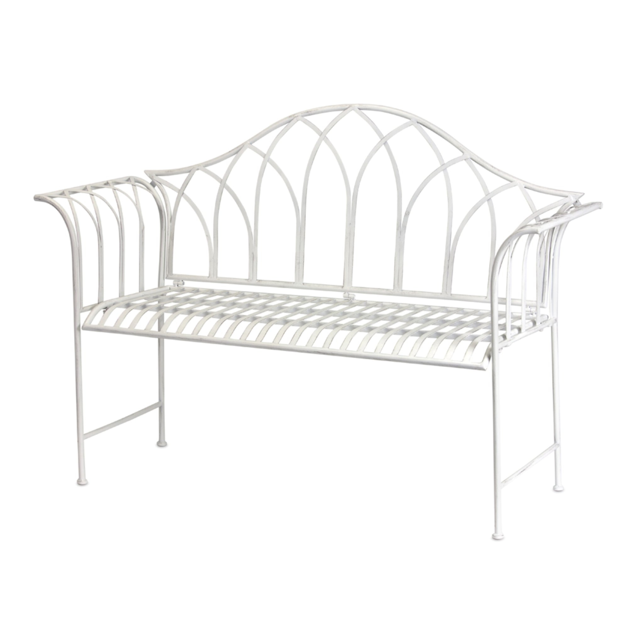 Celtic Knot Iron Garden Benches Within 2019 Haylia Iron Garden Bench (View 25 of 30)