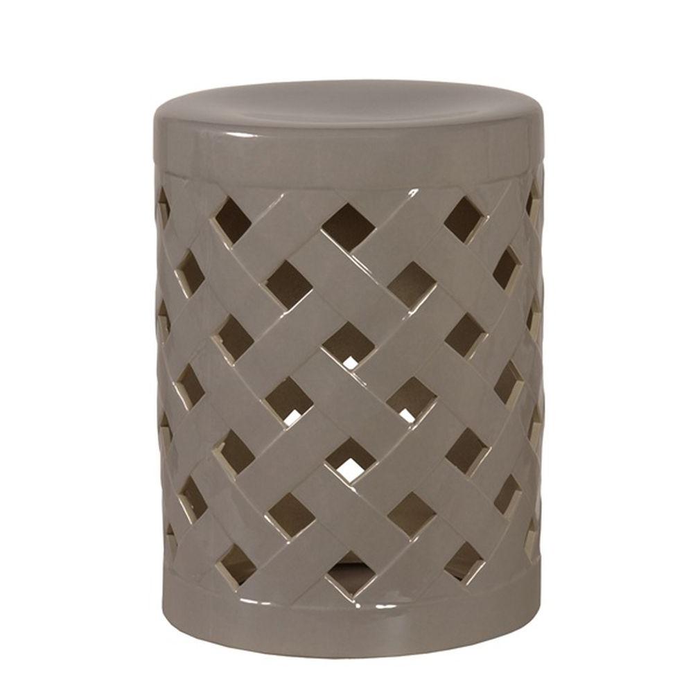 Ceramic Garden Stools Regarding Preferred Grey Crisscross Ceramic Garden Stool (View 26 of 30)