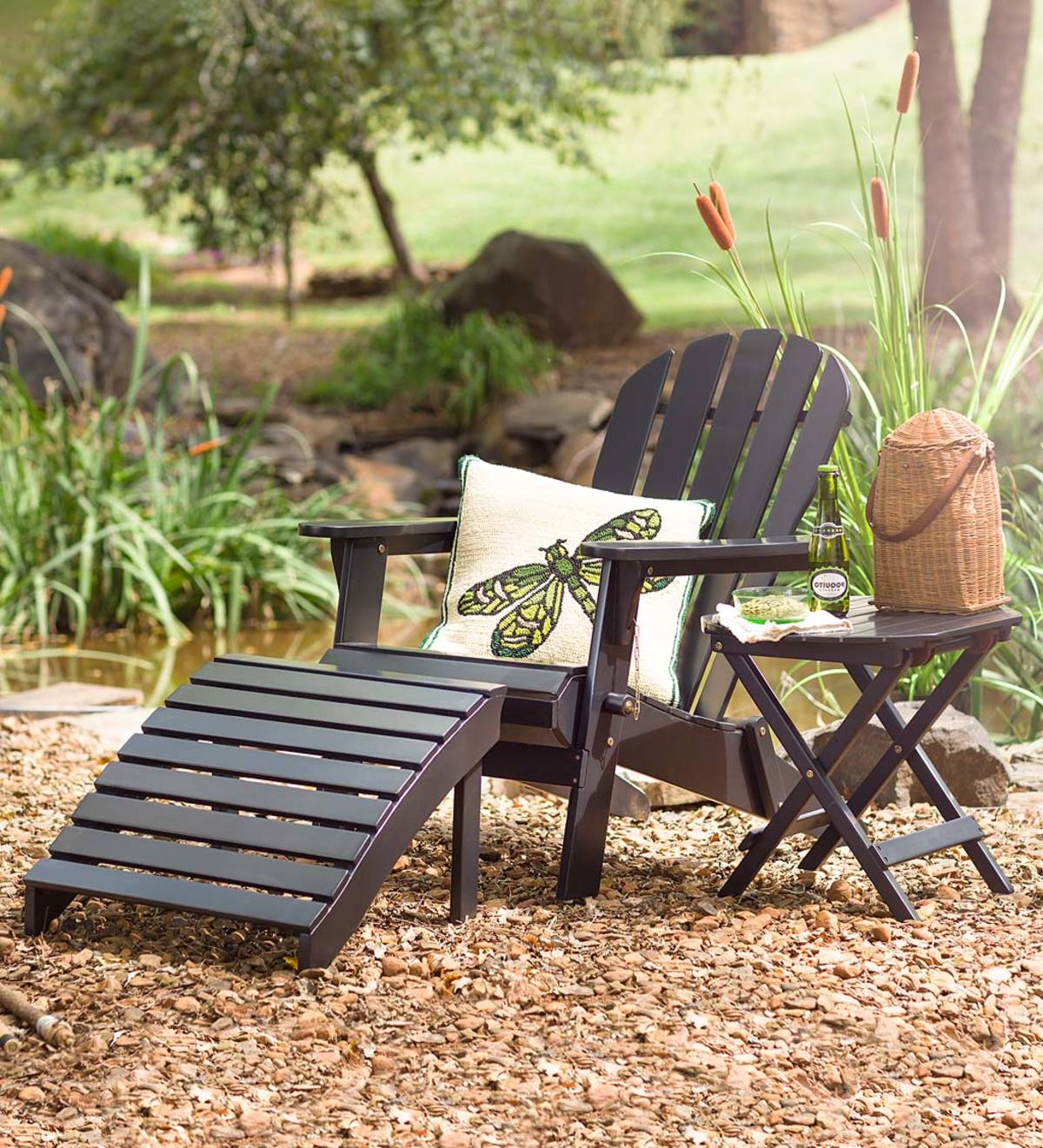 Coleen Outdoor Teak Garden Benches Throughout Fashionable Wooden Adirondack Outdoor Furniture (View 16 of 30)