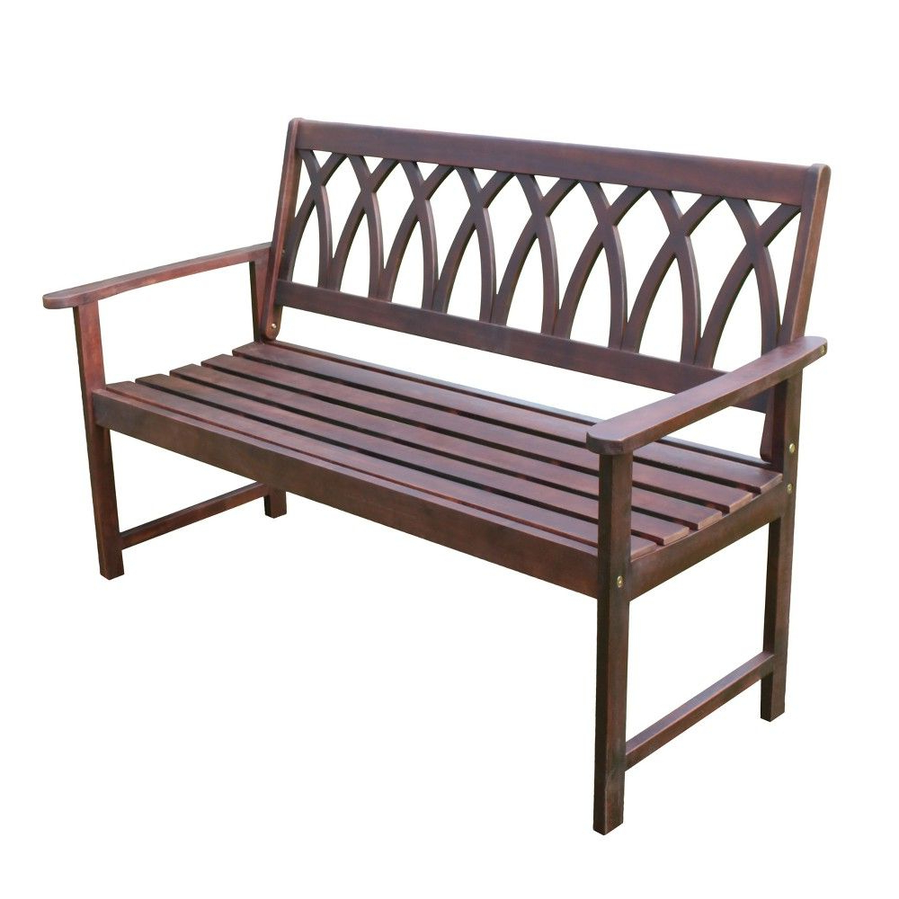 Criss Cross Acacia Wood Garden Bench – Natural Wood – Merry Intended For Latest Leora Wooden Garden Benches (View 23 of 30)